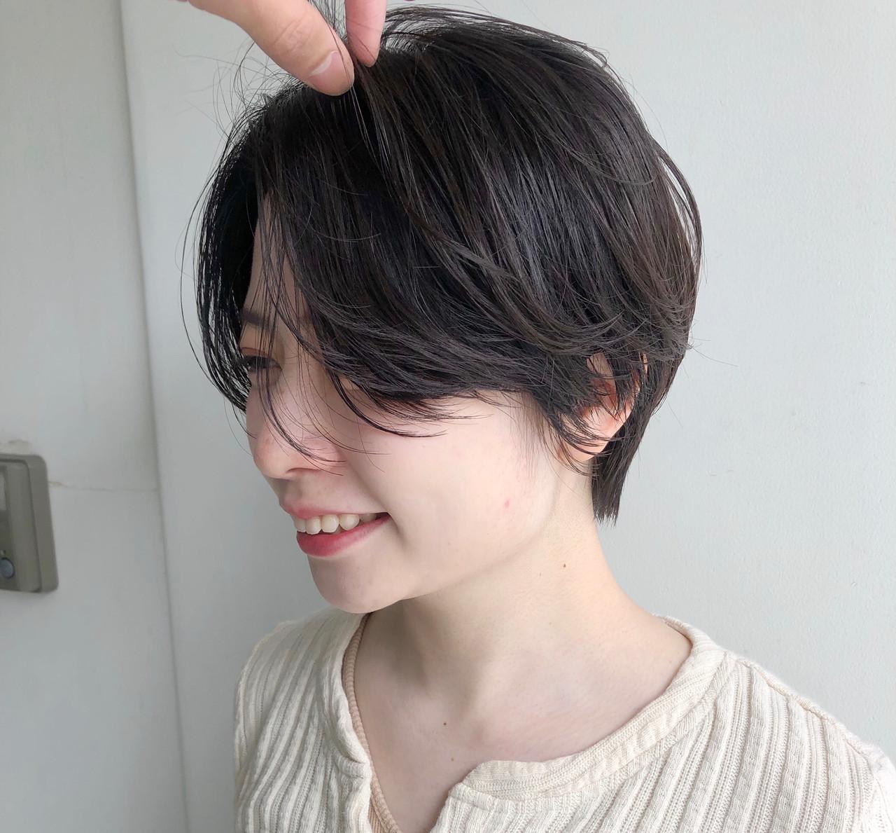 ショート ショートヘア ミニボブ ナチュラル ヘアスタイルや髪型の写真・画像 | 小林 優介 / ASSORT TOKYO