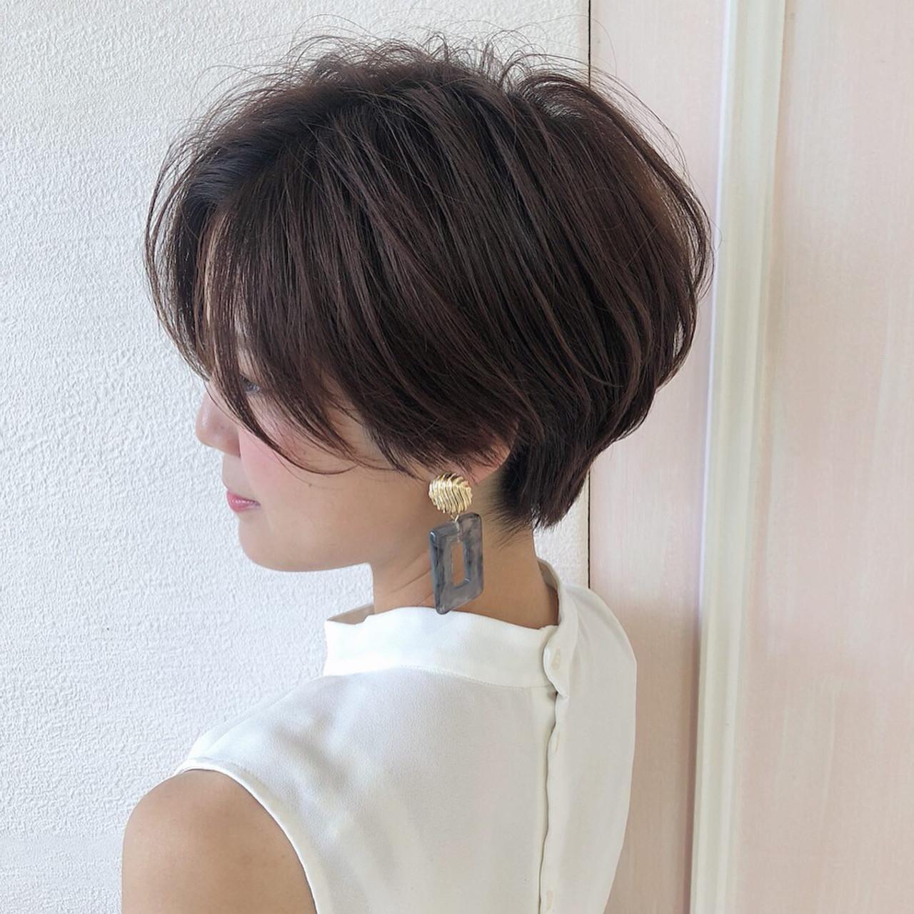 ショートヘア ハンサムショート ショート ナチュラル ヘアスタイルや髪型の写真・画像 | 島本 涼雅 / Lond damaskRose