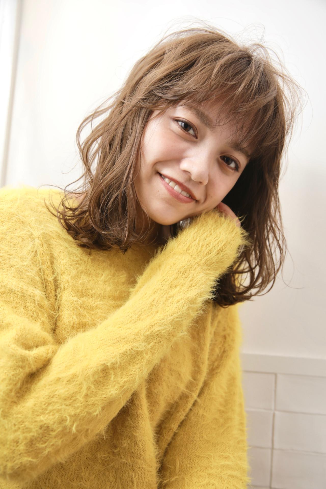 ゆるふわパーマ パーマ 無造作パーマ ミディアム ヘアスタイルや髪型の写真・画像 | タカトリミキ/ Neolive CiroL. / Neolive CiroL.