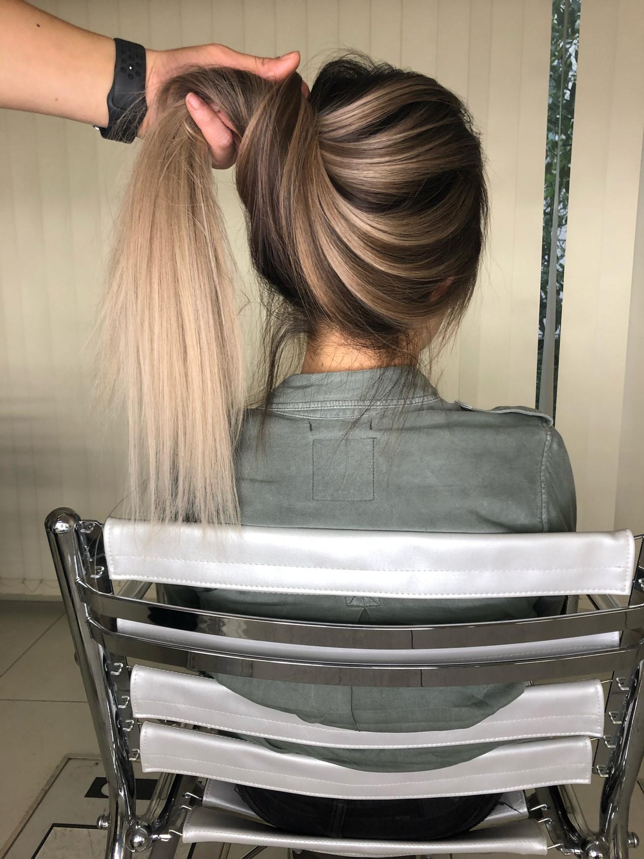 ナチュラル ロング グラデーションカラー ハイライト ヘアスタイルや髪型の写真・画像 | Miura Fumiya / swag