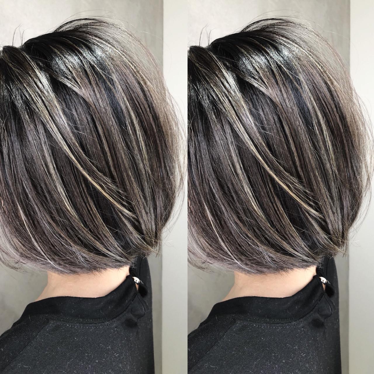 グラデーションカラー 外国人風 アウトドア ショート ヘアスタイルや髪型の写真・画像   筒井 隆由 / Hair salon mode
