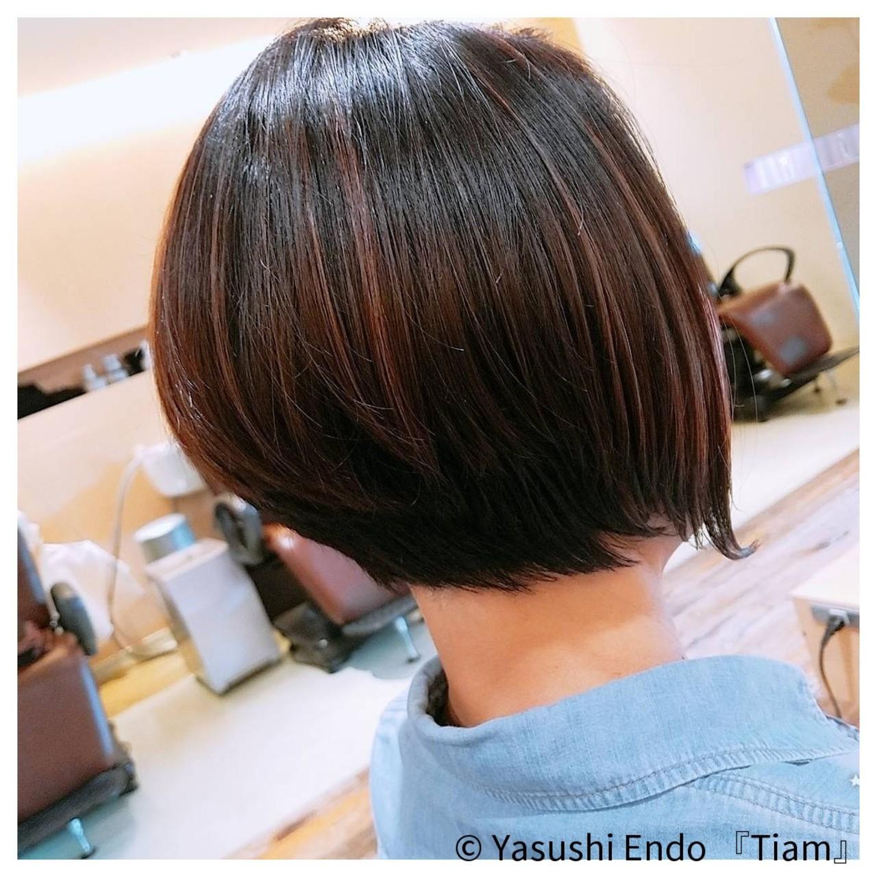 イルミナカラー モード 大人ヘアスタイル 大人カジュアル ヘアスタイルや髪型の写真・画像 | Yasushi Endo 『Tiam』 / Tiam Hair 弘明寺