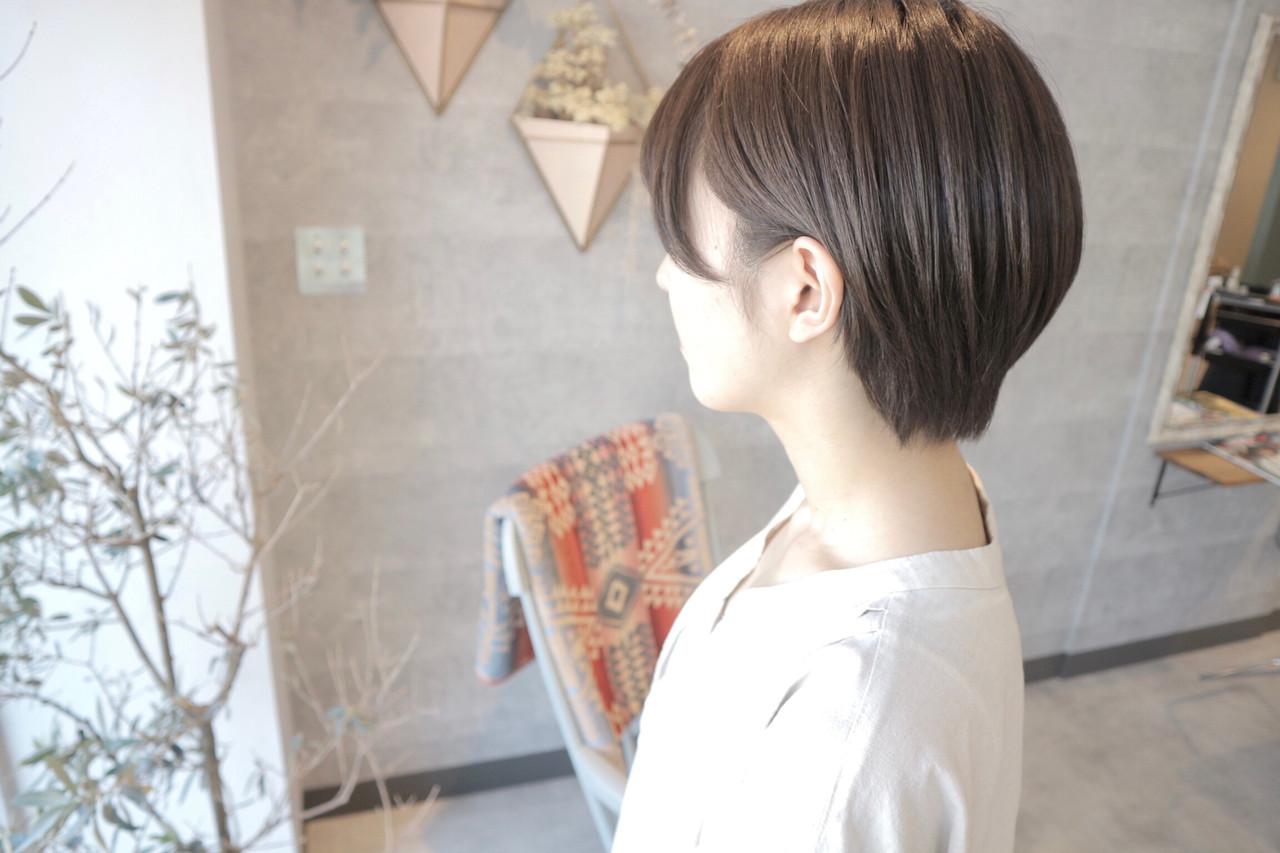 ミニボブ ショート ショートヘア ショートボブ ヘアスタイルや髪型の写真・画像 | 桑村亮太/CALIF hair store / 函館/CALIF hair store/キャリフ ヘアストア
