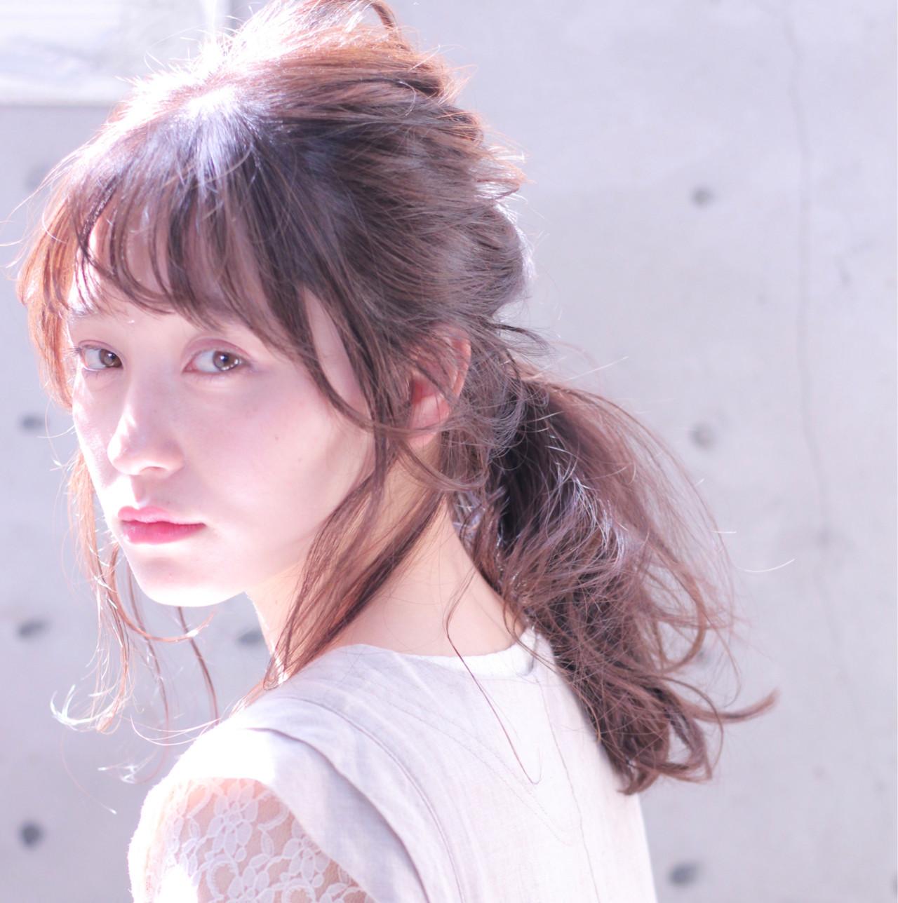 ロング 簡単 ナチュラル 簡単ヘアアレンジ ヘアスタイルや髪型の写真・画像 | Wataru Maeda / cache cache