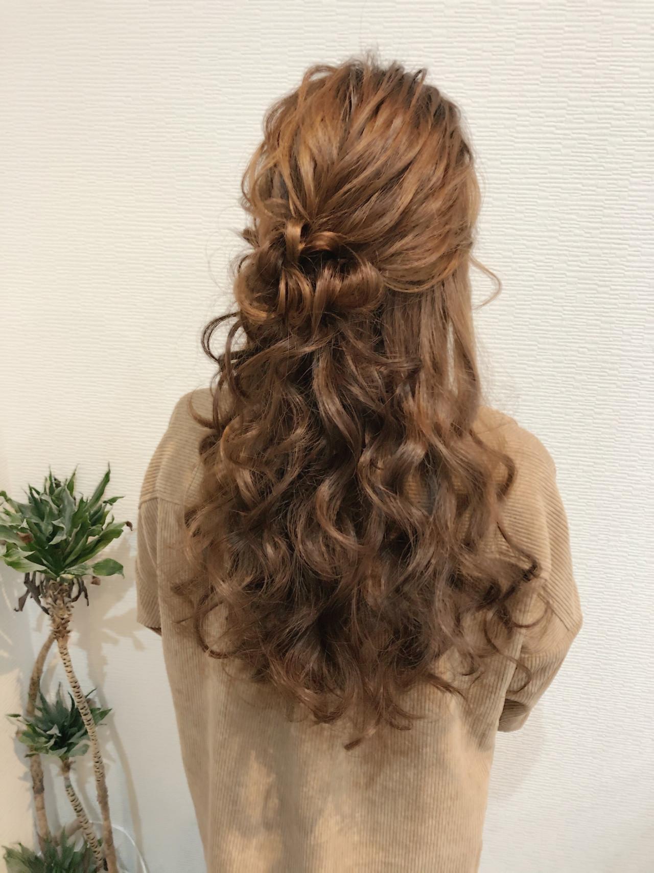 ヘアセット ヘアアレンジ お団子アレンジ ロング ヘアスタイルや髪型の写真・画像 | mai / HAIR SALON STELLA