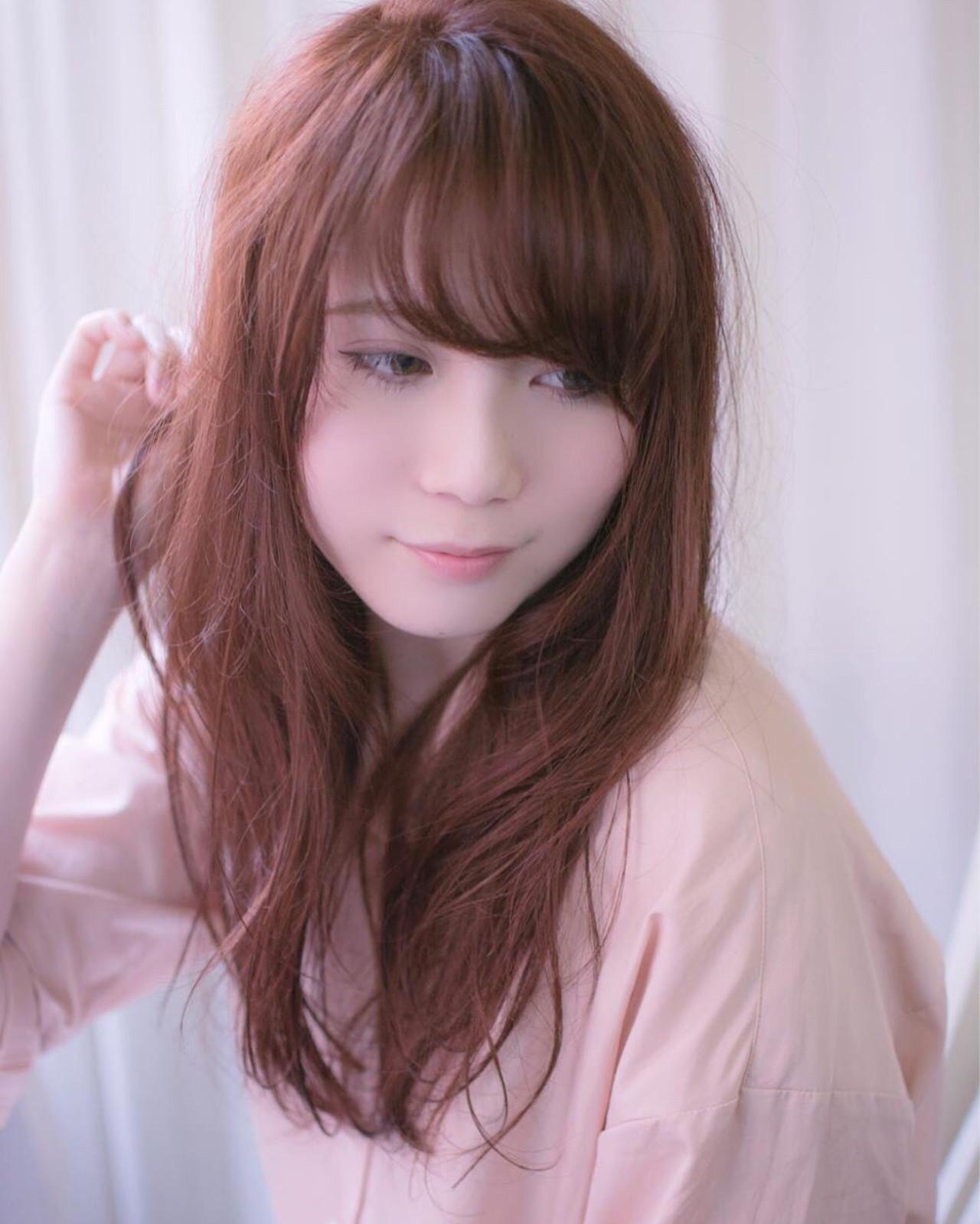 セミロング グラデーションカラー ベージュ ピンク ヘアスタイルや髪型の写真・画像 | 田渕 英和/vicushair / vicushair