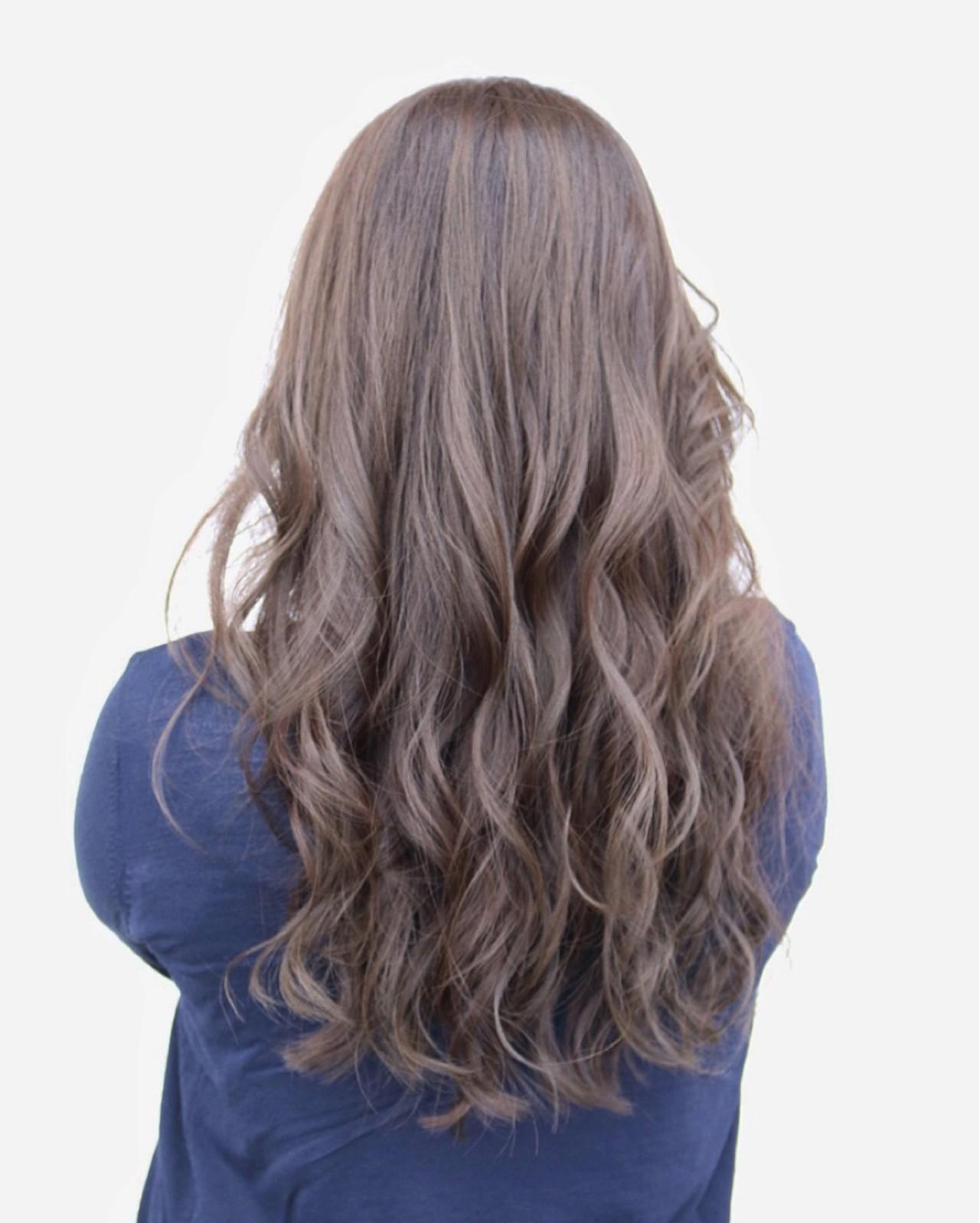 ハイライト ブルージュ アッシュ ロングヘアスタイルや髪型の写真・画像