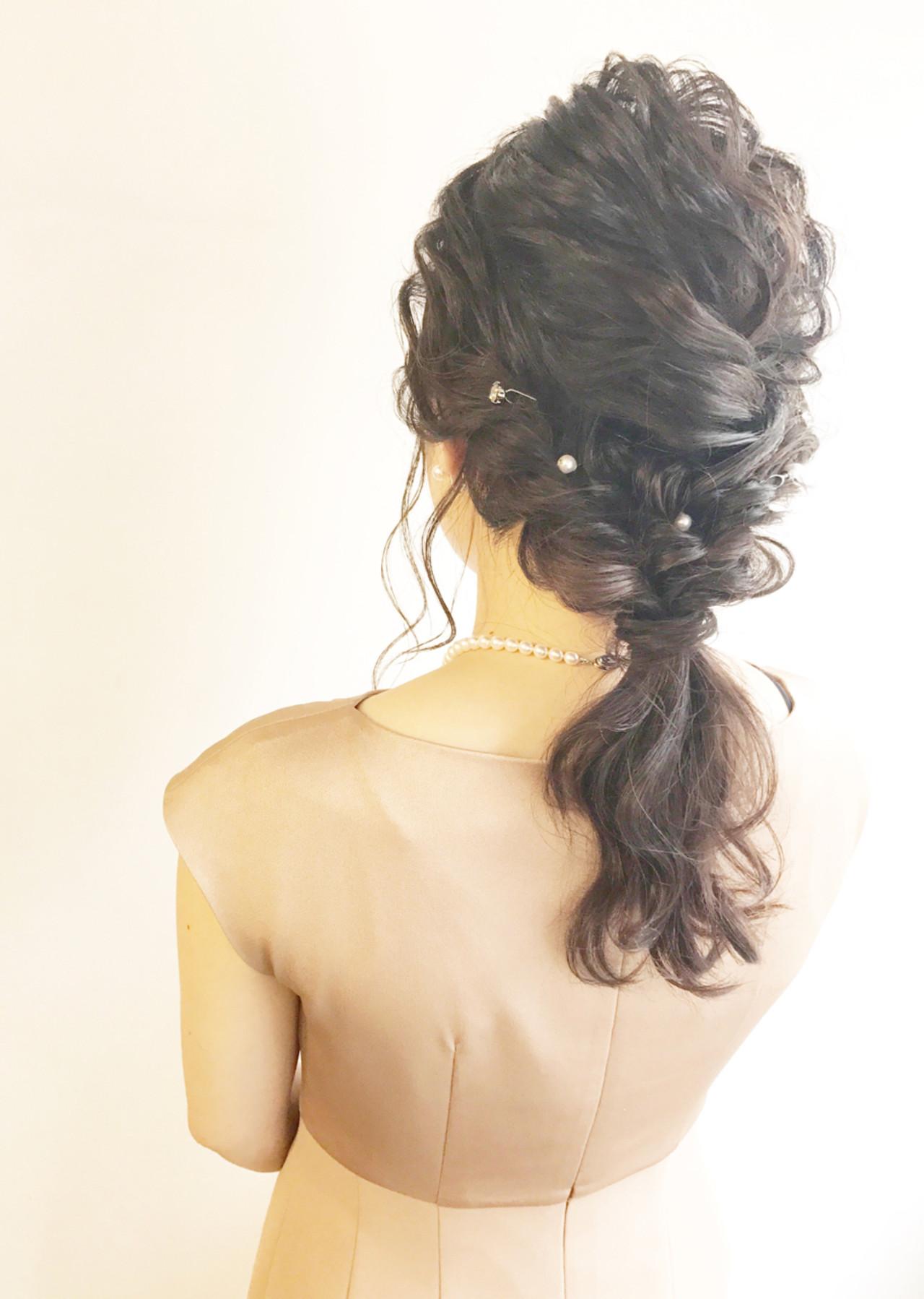 ヘアアレンジ 成人式 エレガント 結婚式ヘアスタイルや髪型の写真・画像