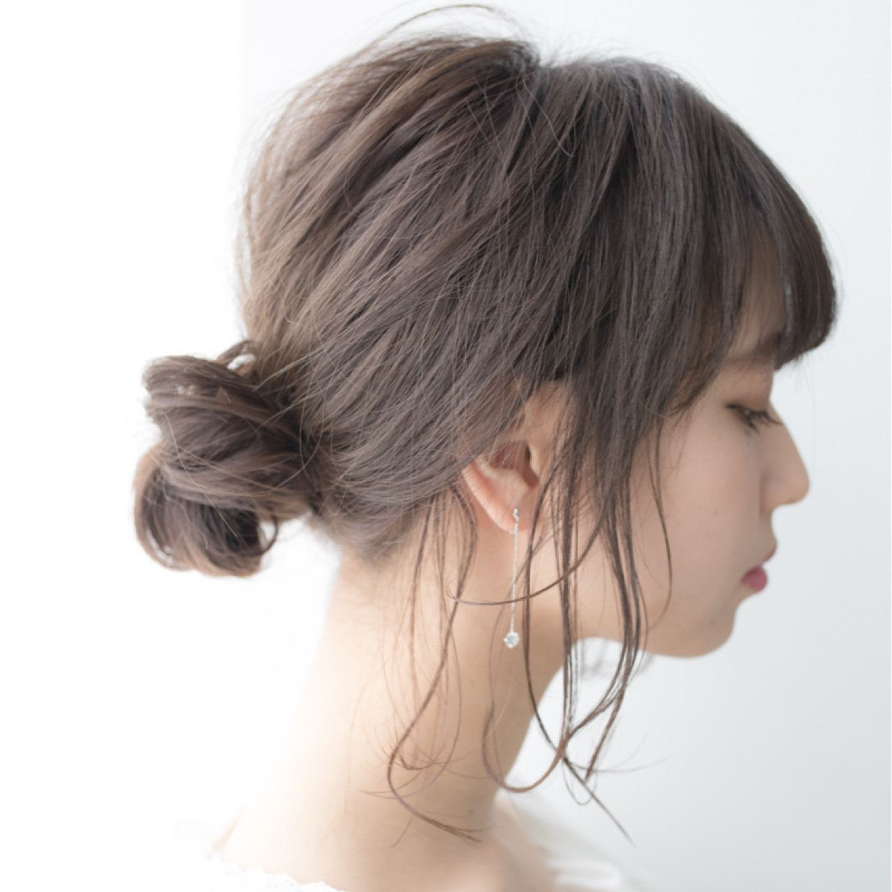 ミディアム 簡単ヘアアレンジ ヘアアレンジ 結婚式 ヘアスタイルや髪型の写真・画像 | 伊藤 大樹 / Lufeli
