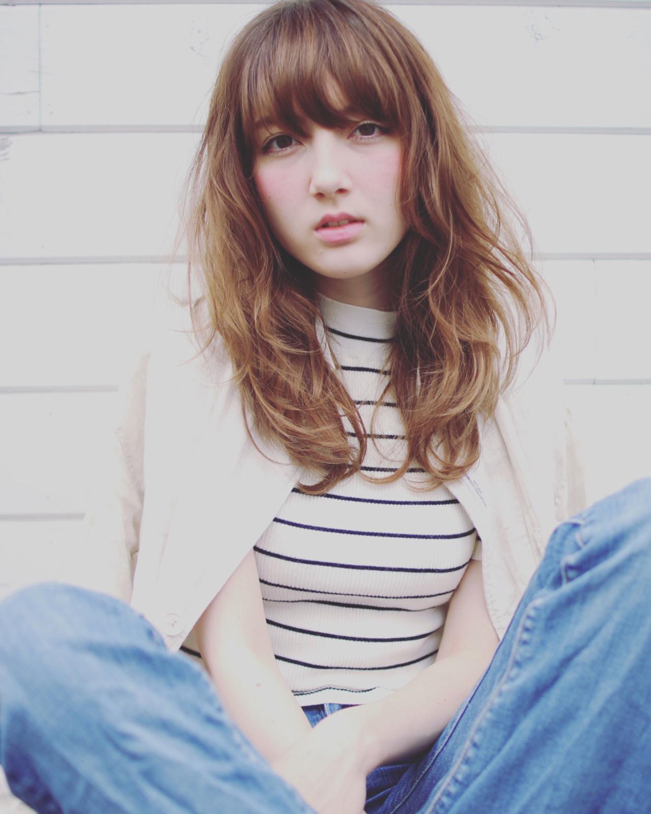 フェミニン パーマ 外国人風 ストリート ヘアスタイルや髪型の写真・画像 | SHIN/白田慎 / MAGNOLiA(マグノリア)