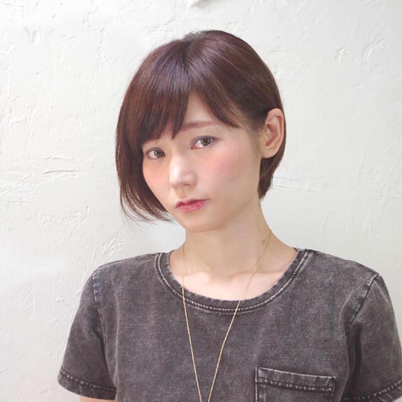 前髪あり ワイドバング 暗髪 黒髪 ヘアスタイルや髪型の写真・画像   Nao Kokubun blast / blast