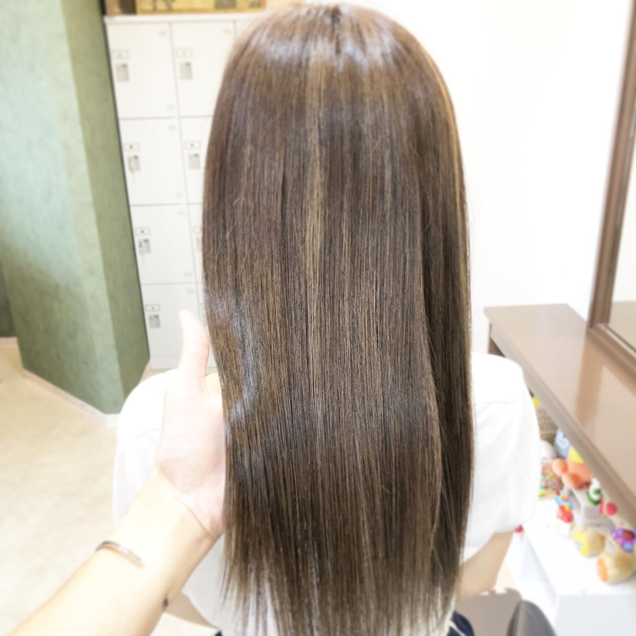 ナチュラル ロング ブリーチ ヘアアレンジ ヘアスタイルや髪型の写真・画像   古作 蓮 / 美容室 MICHI 富田店