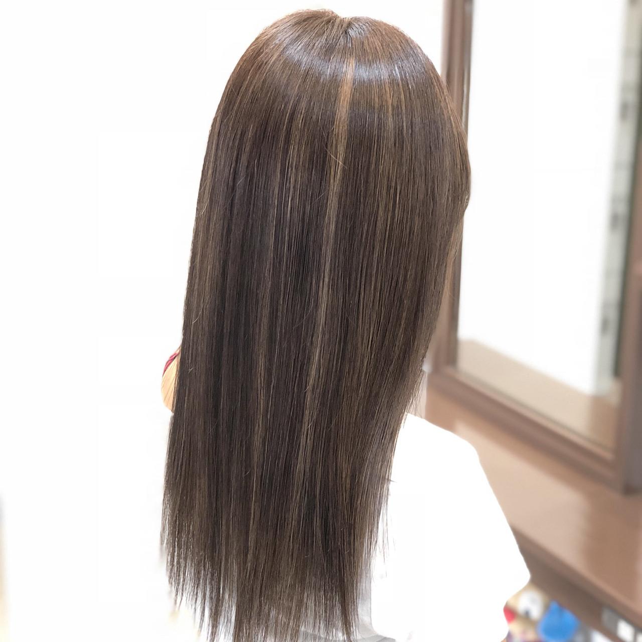 ナチュラル ロング ブリーチ ヘアアレンジ ヘアスタイルや髪型の写真・画像 | 古作 蓮 / 美容室 MICHI 富田店