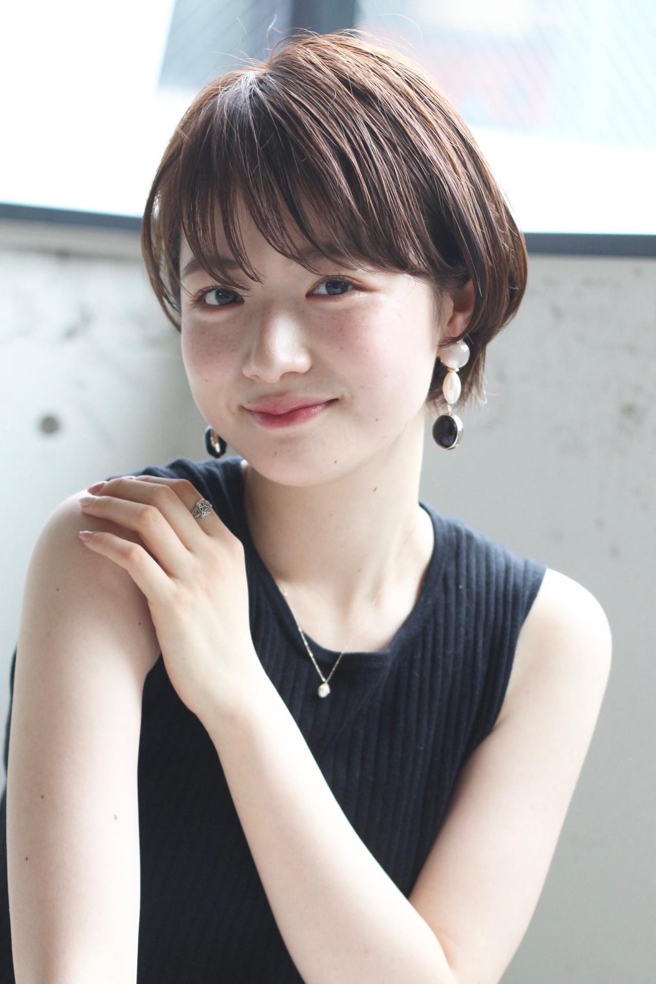 丸みショート ショート ナチュラル ショートボブ ヘアスタイルや髪型の写真・画像 | Natsuko Kodama 児玉奈都子 / dydi