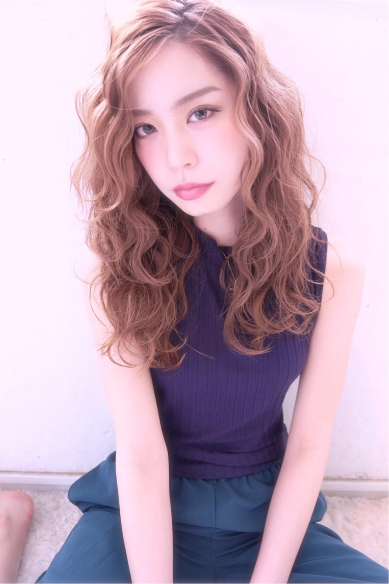 愛され ガーリー ロング ヘアアレンジ ヘアスタイルや髪型の写真・画像 | saori / Embellir