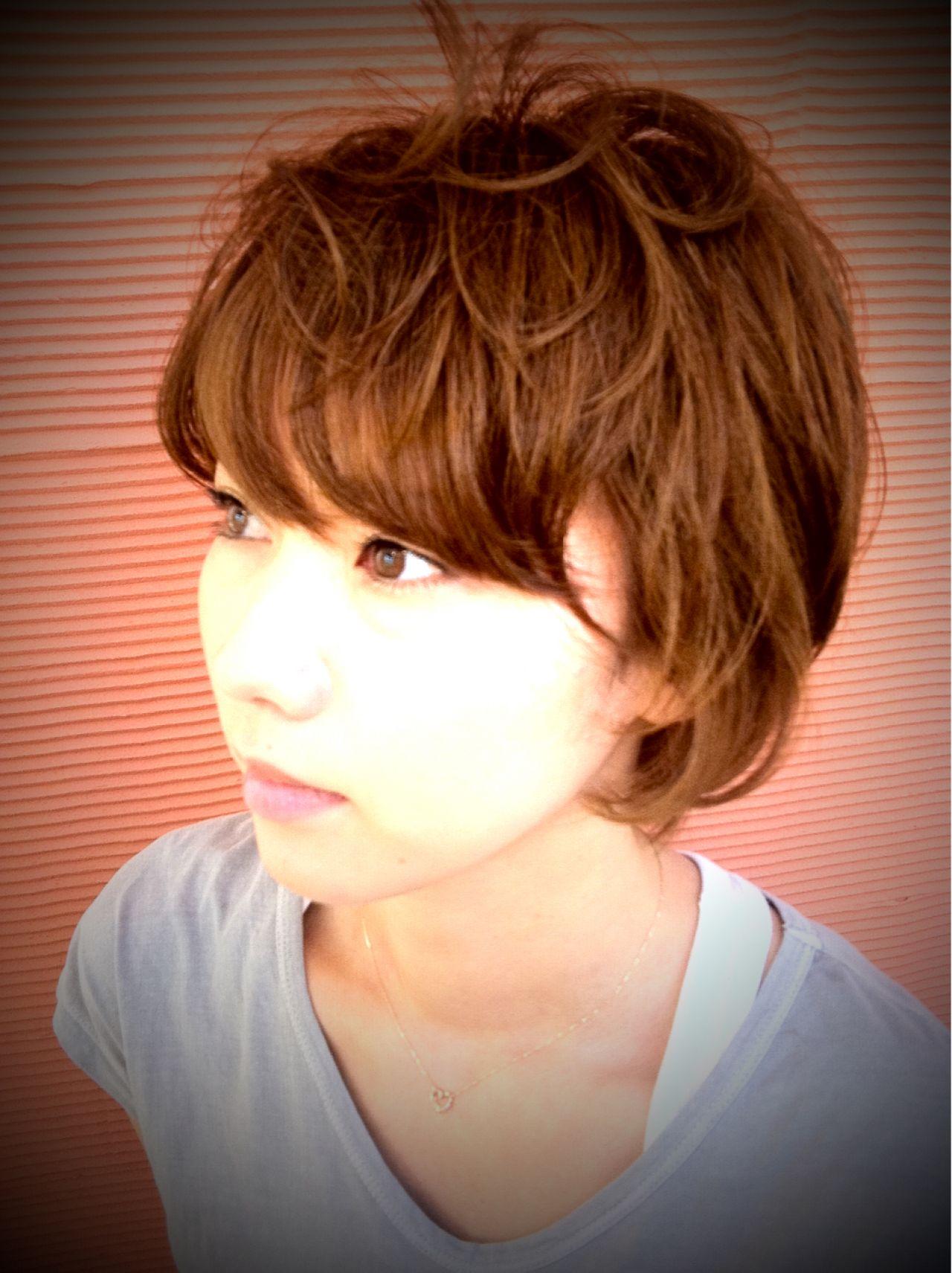 ゆるふわ ショート ストリート 愛され ヘアスタイルや髪型の写真・画像   MAMI FUJII / Miniature garden