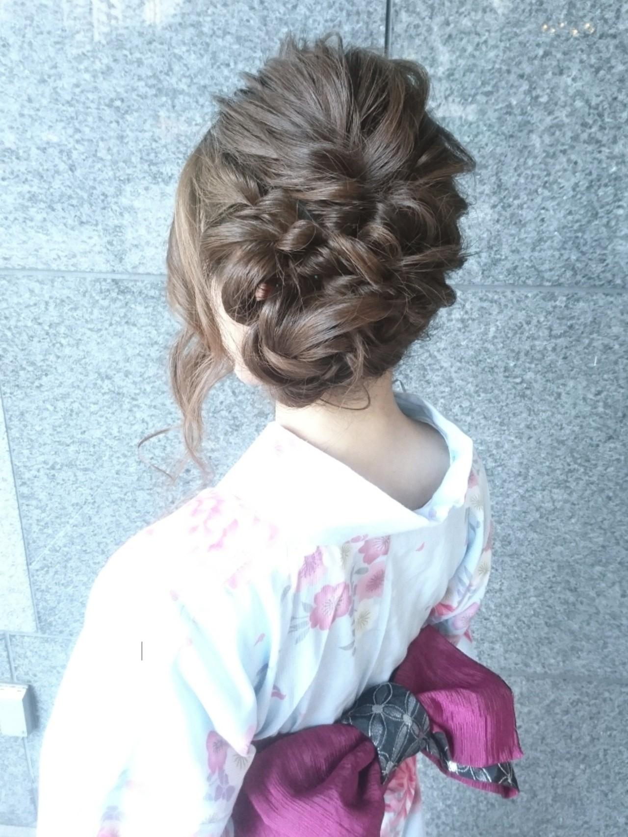 こなれ感 ナチュラル お祭り ヘアアレンジ ヘアスタイルや髪型の写真・画像 | 島田 和也 / hair&spa feliceMICHI