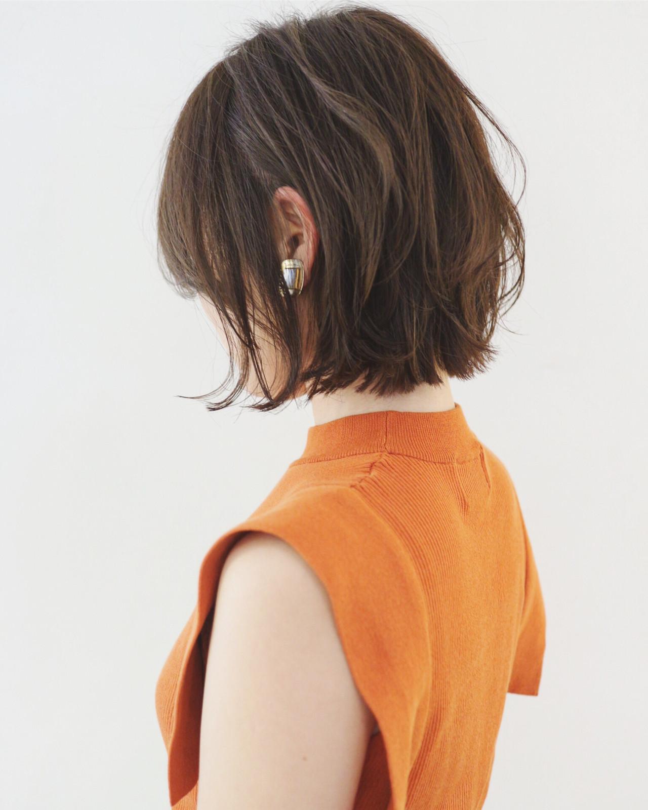 デート ボブ 抜け感 外ハネボブ ヘアスタイルや髪型の写真・画像 | 三好 佳奈美 / Baco.(バコ)