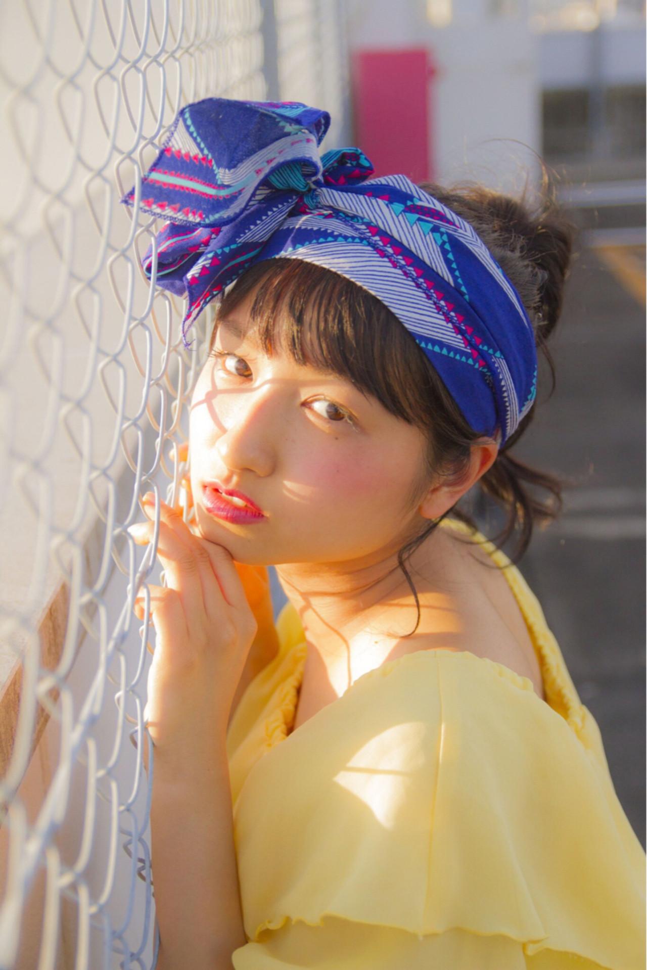 夏 ミディアム デート アウトドア ヘアスタイルや髪型の写真・画像 | 岩切陽平 / Hair&Beauty AURA