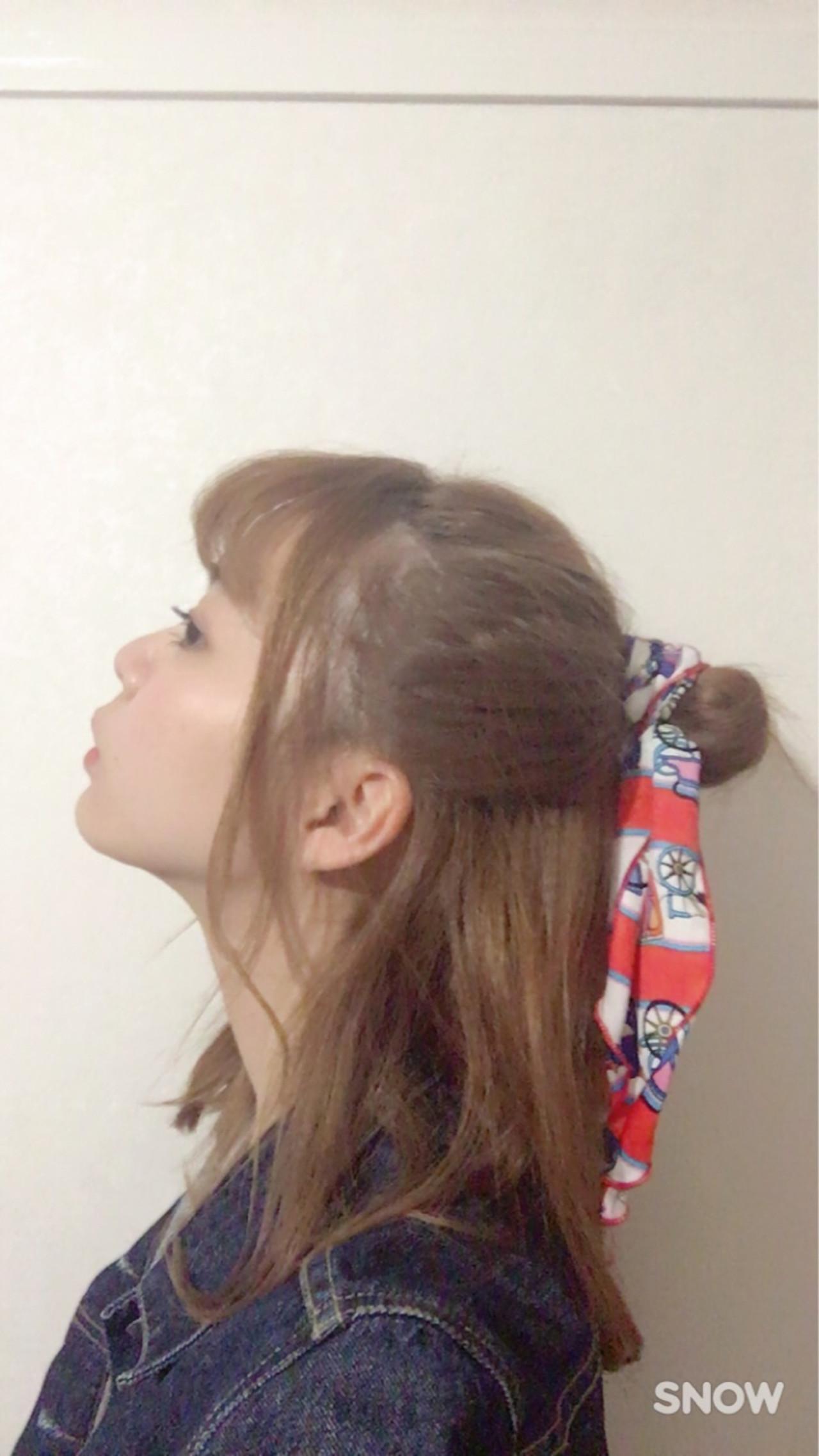 前髪あり ヘアアレンジ ガーリー ショート ヘアスタイルや髪型の写真・画像 | ななほ /