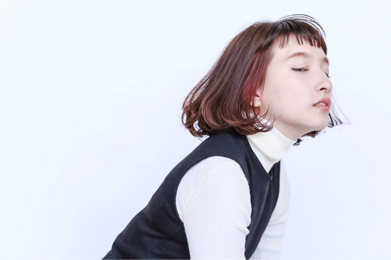 ナチュラル ピュア ハイライト 前髪あり ヘアスタイルや髪型の写真・画像   _rieko0406_ /
