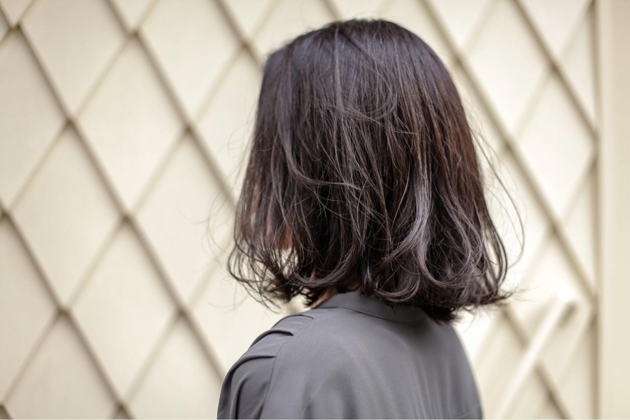 グラデーションカラー ボブ くせ毛風 外ハネ ヘアスタイルや髪型の写真・画像 | 治久丸 元太 / GOODYBASE