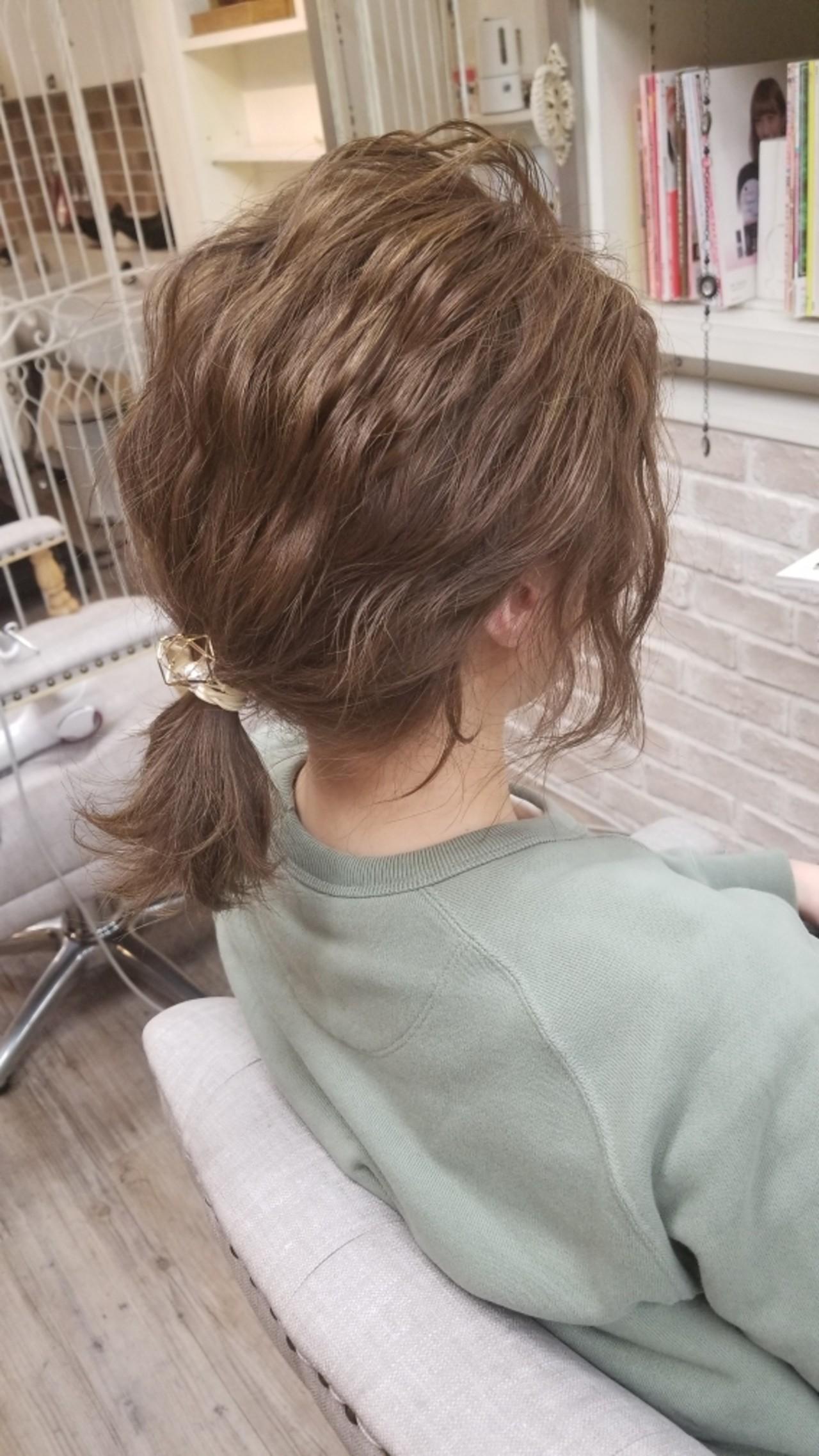 ナチュラル ショート ボブ 簡単ヘアアレンジヘアスタイルや髪型の写真・画像