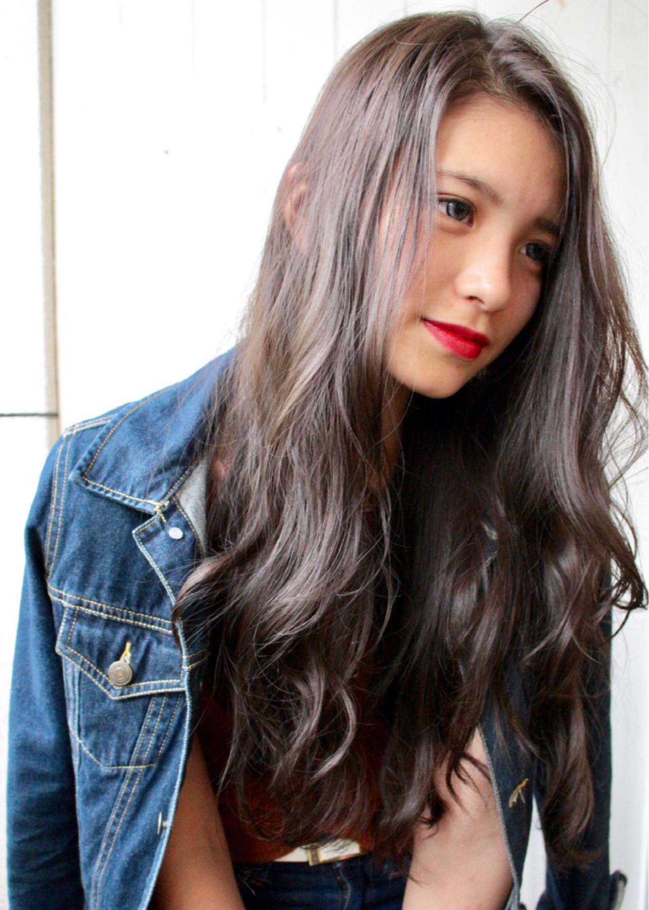 ロング 外国人風カラー ウェーブ エレガントヘアスタイルや髪型の写真・画像
