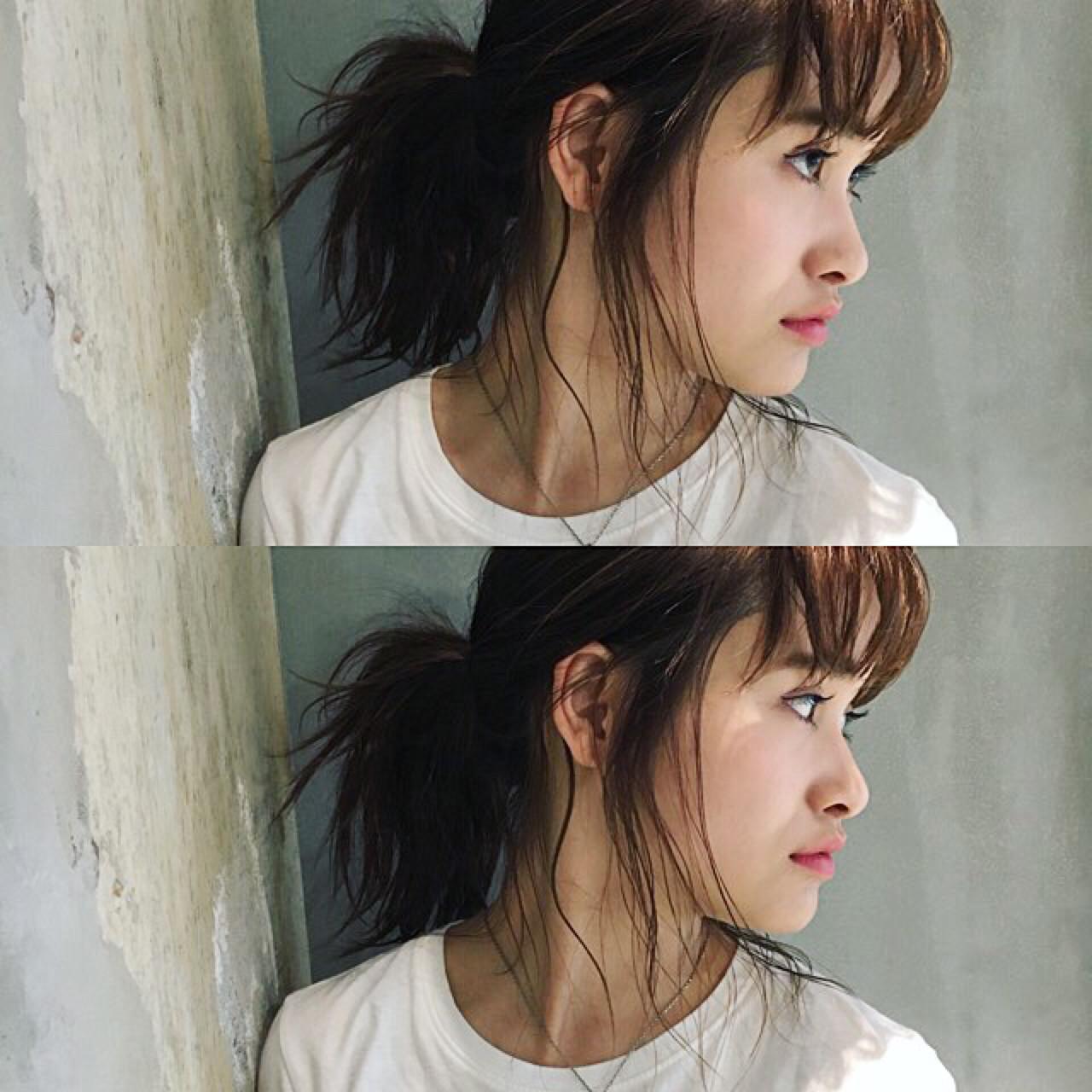 ポニーテール ヘアアレンジ ミディアム ストリート ヘアスタイルや髪型の写真・画像 | 金野 朋晃 / KATE omotesando