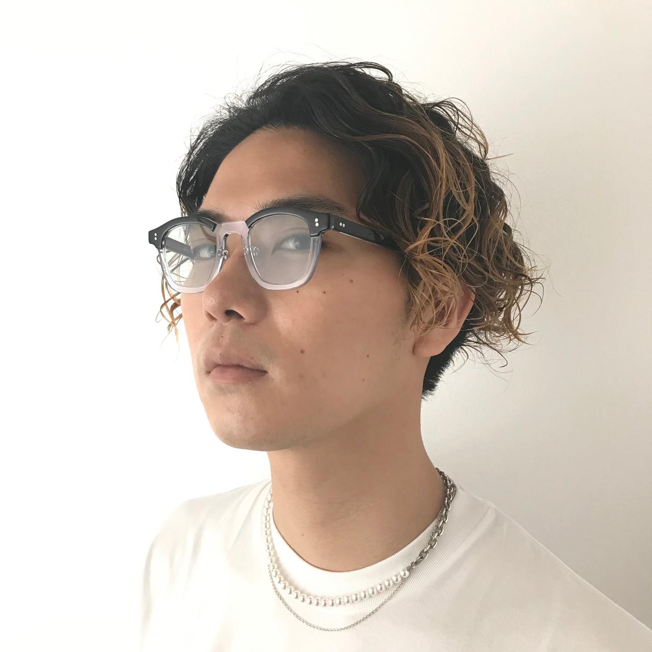 メンズカラー ストリート メンズパーマ ミディアム ヘアスタイルや髪型の写真・画像   澤江 啓司 / K-two KYOTO