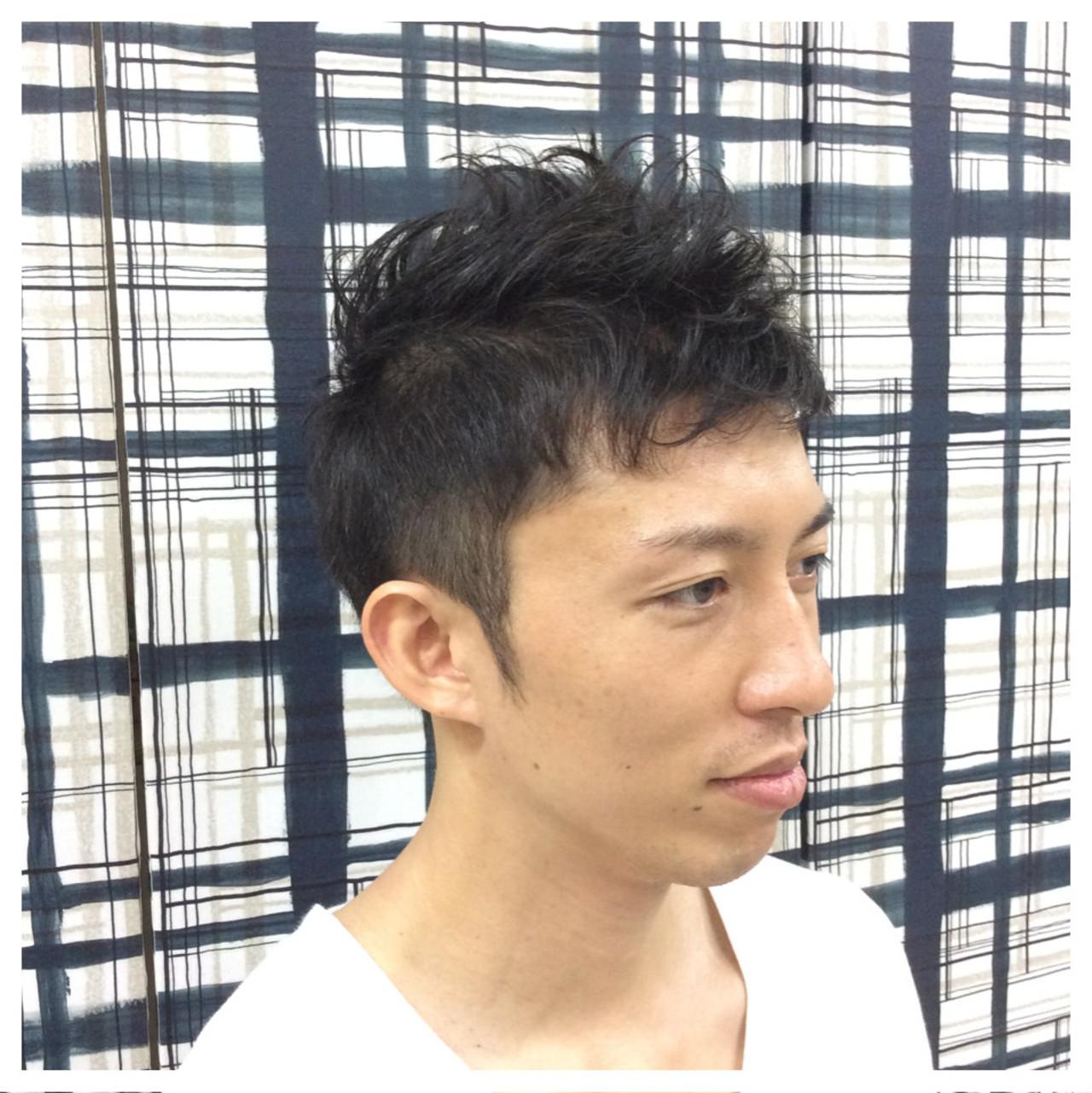 ショート メンズ 暗髪 黒髪ヘアスタイルや髪型の写真・画像