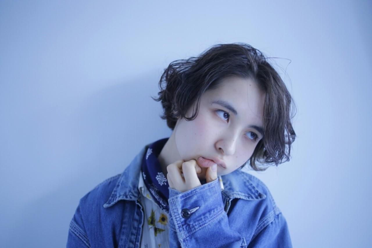 ショート ストリート ゆるふわ 黒髪 ヘアスタイルや髪型の写真・画像 | キョウスケ / YOKe:E