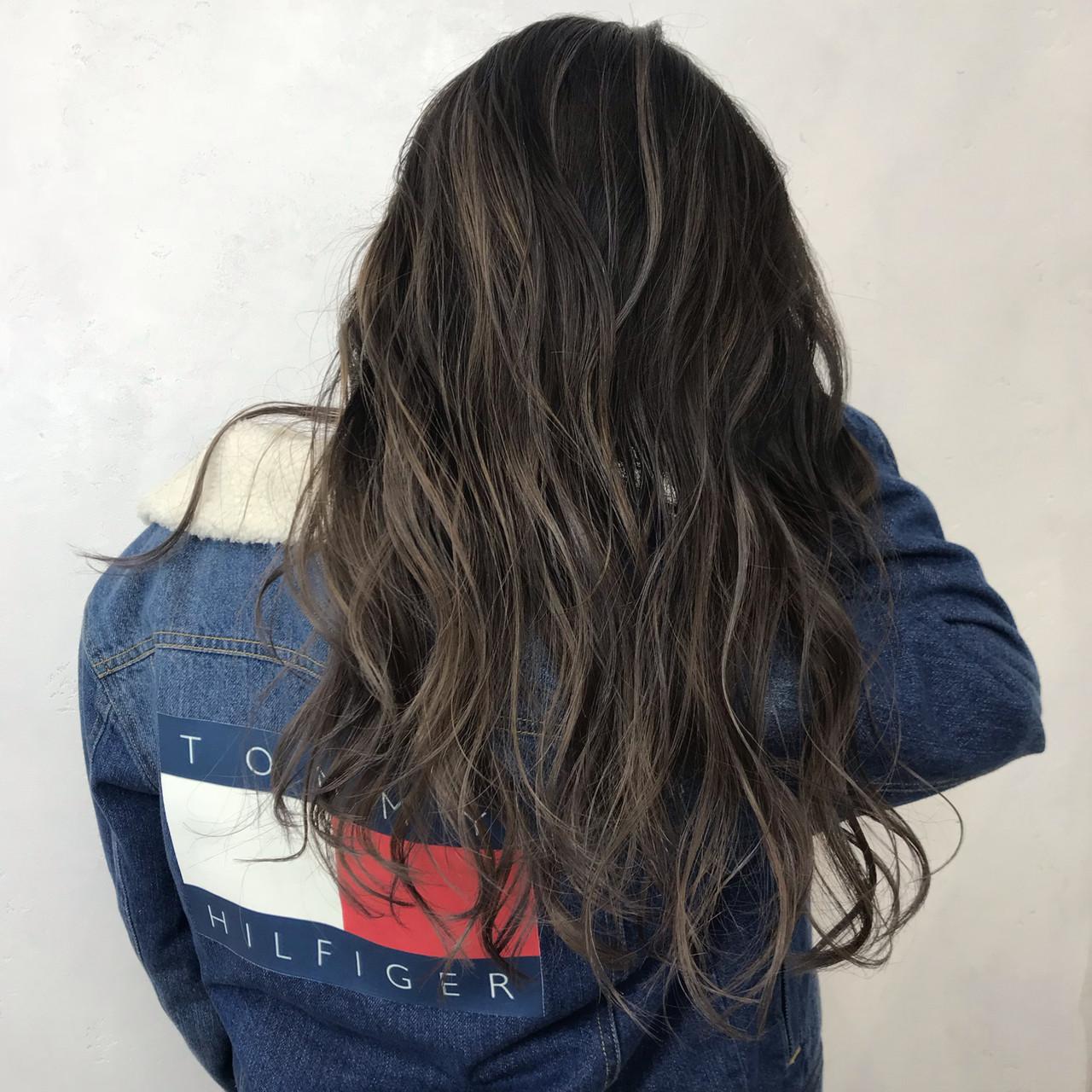 外国人風カラー ロング ストリート 秋ヘアスタイルや髪型の写真・画像