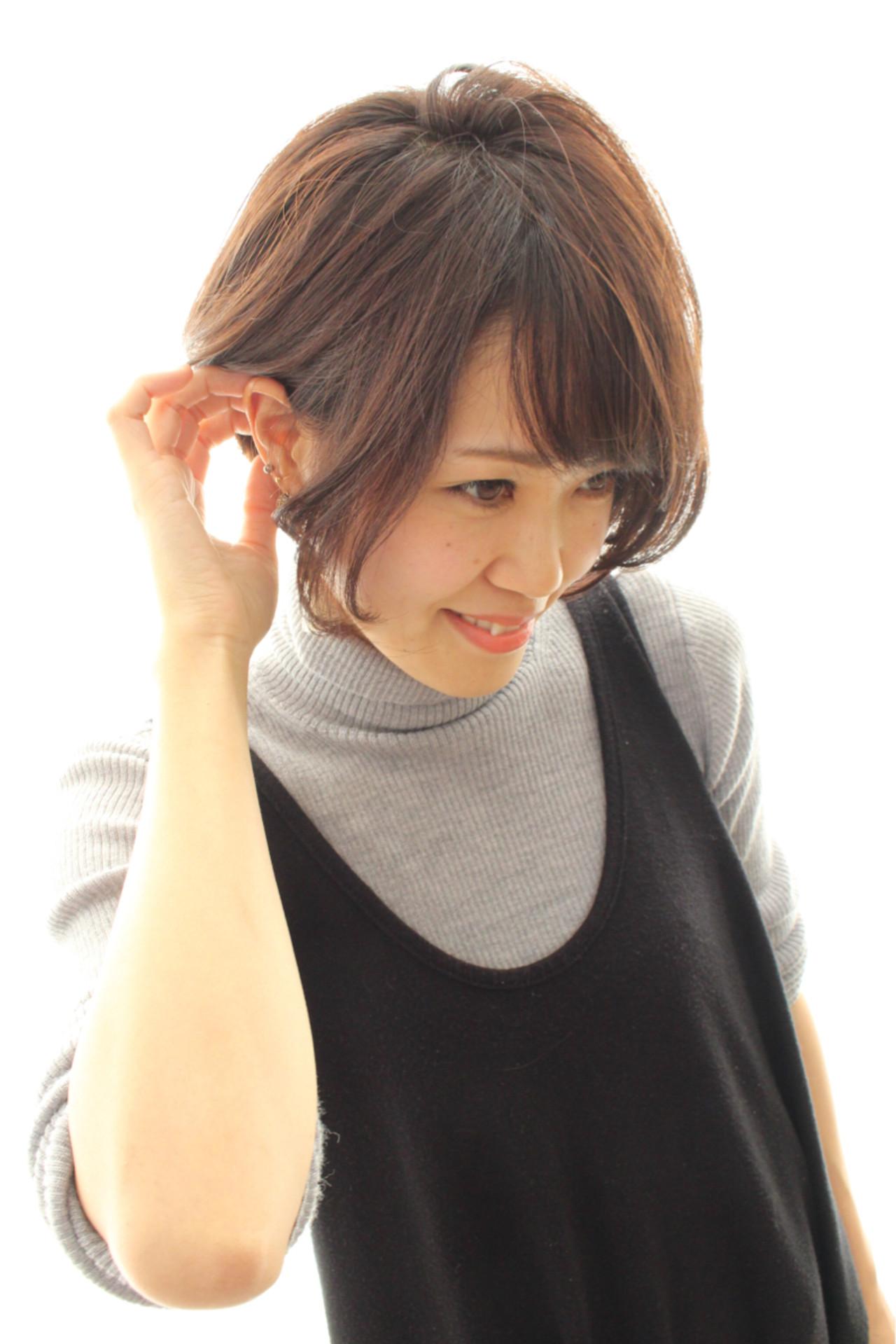 似合わせ モテ髪 ボブ ナチュラル ヘアスタイルや髪型の写真・画像 | sammy / BLOQ.