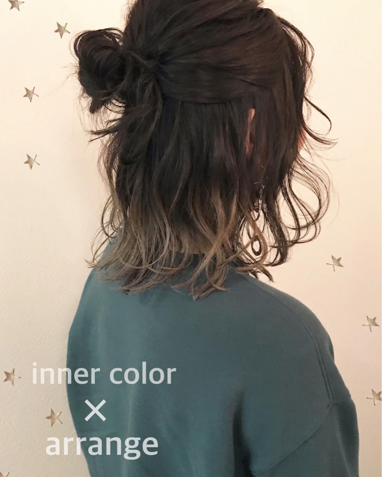 ストリート ゆるふわ インナーカラー ヘアアレンジ ヘアスタイルや髪型の写真・画像   市川千夏*札幌 / salon AKIRA