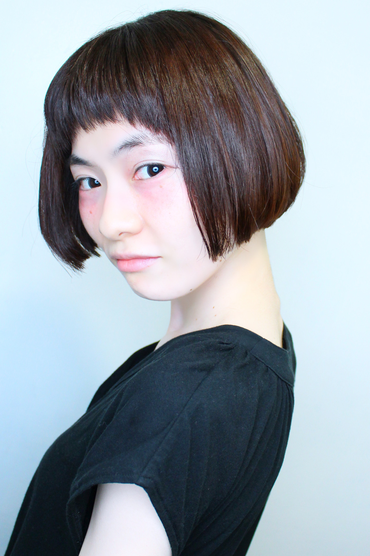 デート ボブ 似合わせカット ナチュラルヘアスタイルや髪型の写真・画像