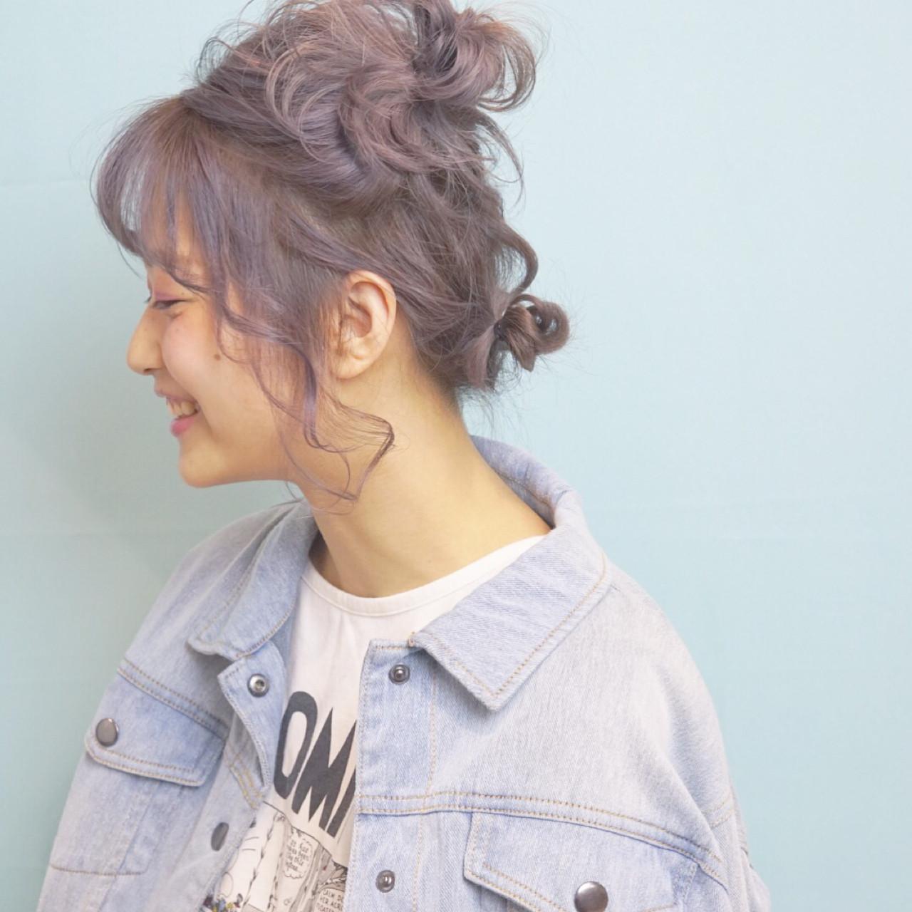 デート ガーリー ヘアアレンジ ナチュラル ヘアスタイルや髪型の写真・画像   山口 卓哉/earth北浦和店 / Hair&Make EARTH北浦和店