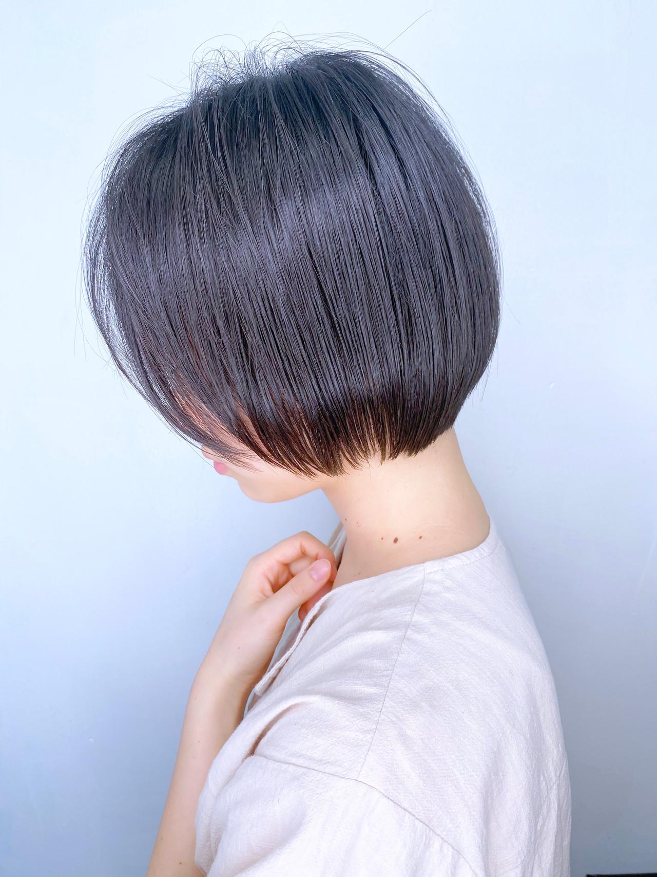 黒髪 ナチュラル ミニボブ ボブ ヘアスタイルや髪型の写真・画像 | 日平 海 / モリオフロムロンドン 池袋店