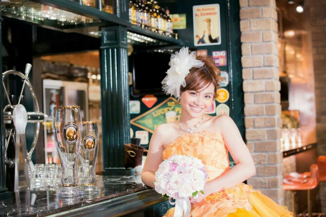結婚式 ヘアアレンジ ポニーテール 大人かわいい ヘアスタイルや髪型の写真・画像 | Kanagon / Beauty Salon nagomi