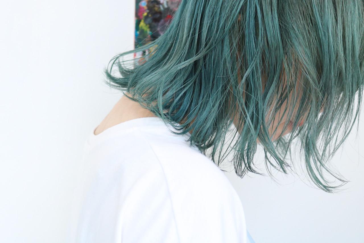 ブルージュ ボブ ブルー ブルーアッシュ ヘアスタイルや髪型の写真・画像 | 上田智久 / ooit 福岡 天神 / ooit