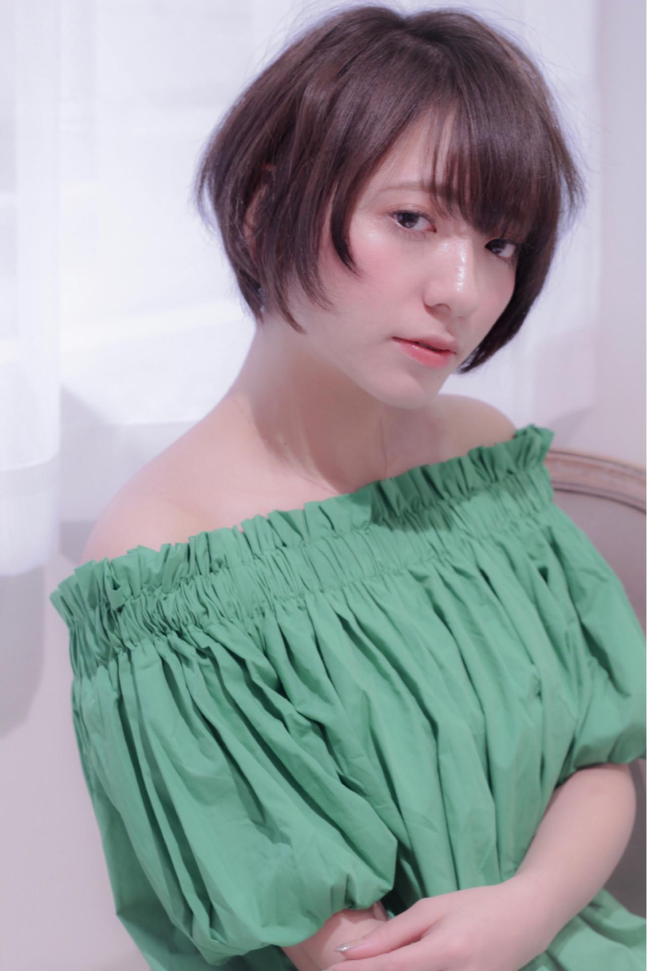 オフィス デート ショート ヘアアレンジヘアスタイルや髪型の写真・画像