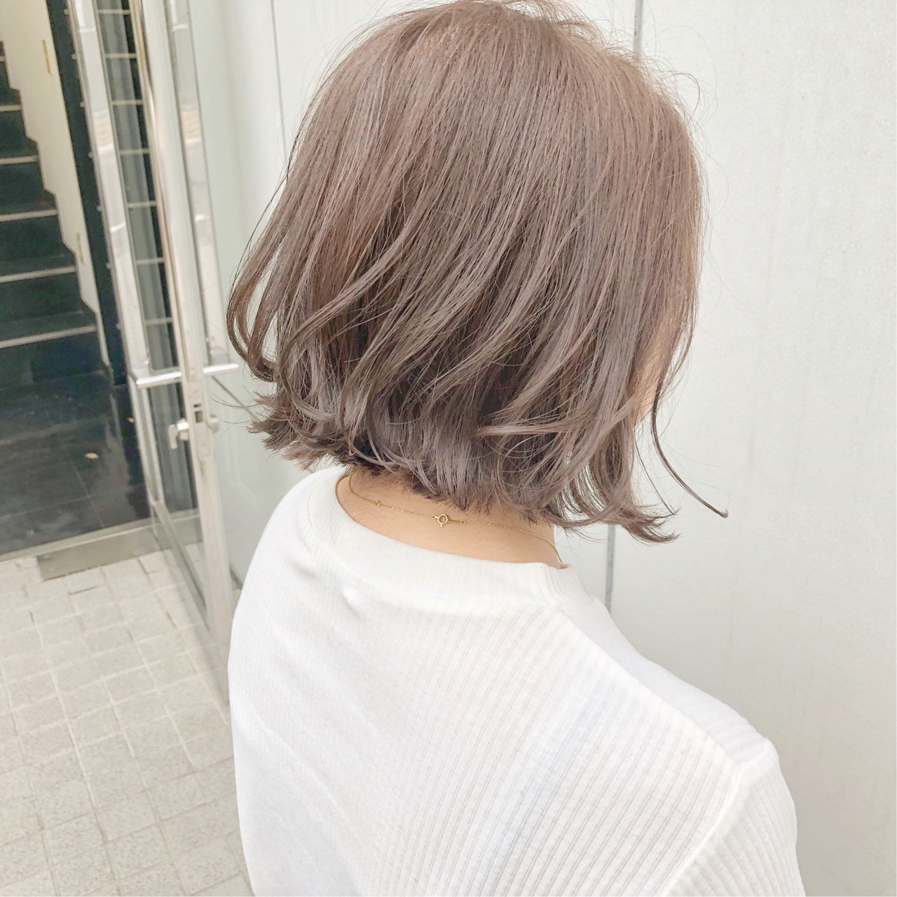 デート オフィス ボブ ヘアアレンジヘアスタイルや髪型の写真・画像