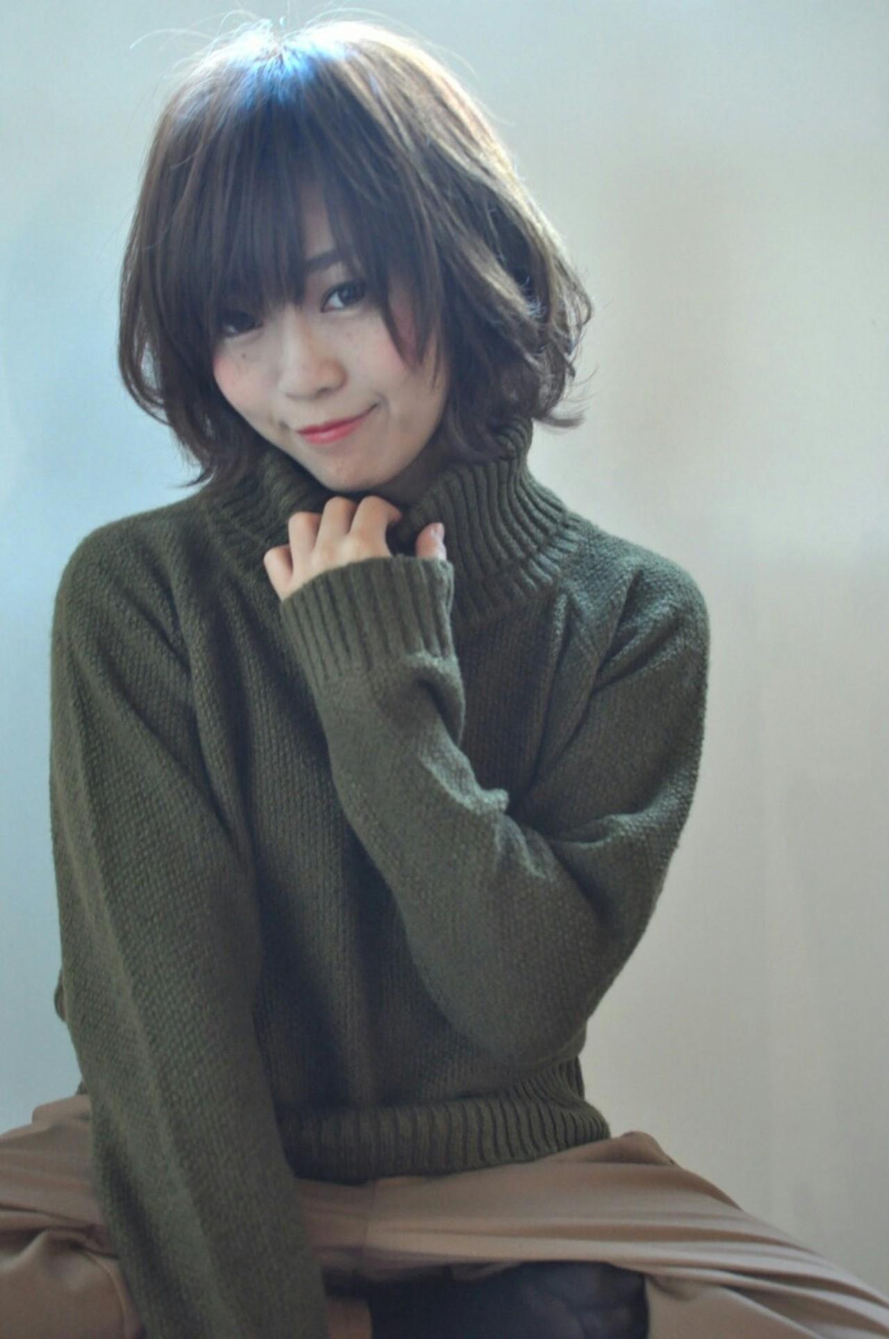 冬ファッションにはハイネックでしょ!髪型と合わせた可愛い着こなし方ご紹介* 志摩 法香