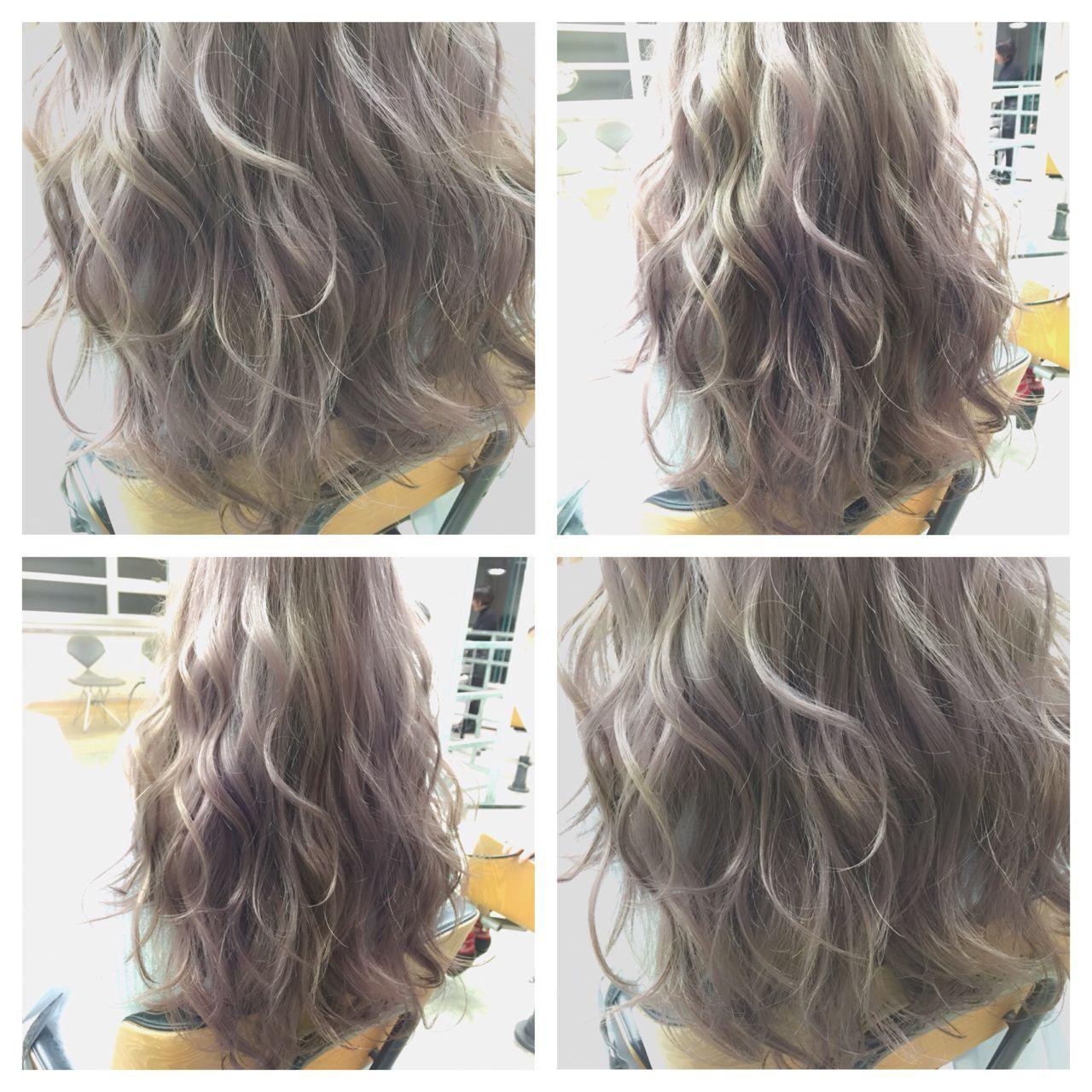 セミロング 暗髪 ストリート グラデーションカラーヘアスタイルや髪型の写真・画像