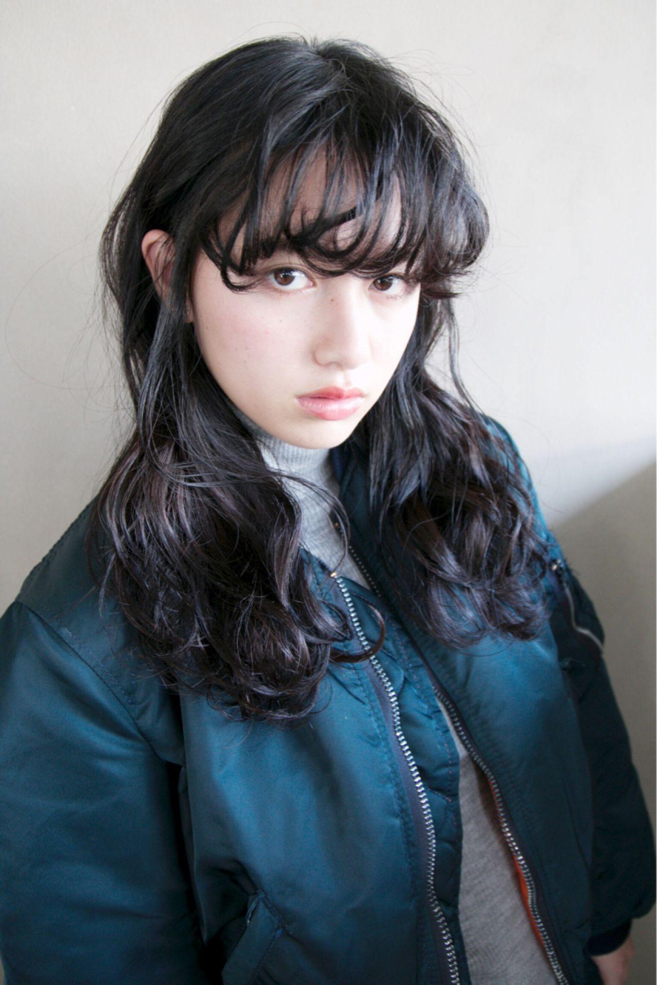 黒髪ウェーブロング : とにかく黒髪!かわいいヘアスタイルまとめ
