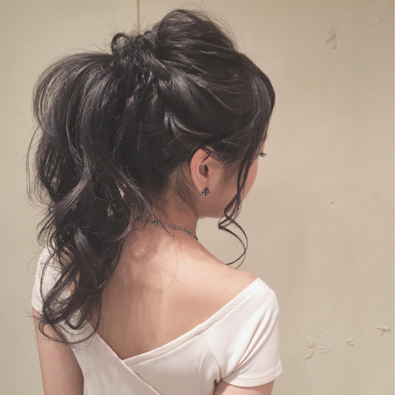 ヘアアレンジ ロング ゆるふわ ポニーテール ヘアスタイルや髪型の写真・画像 | 平川 元気 / MAPUNA