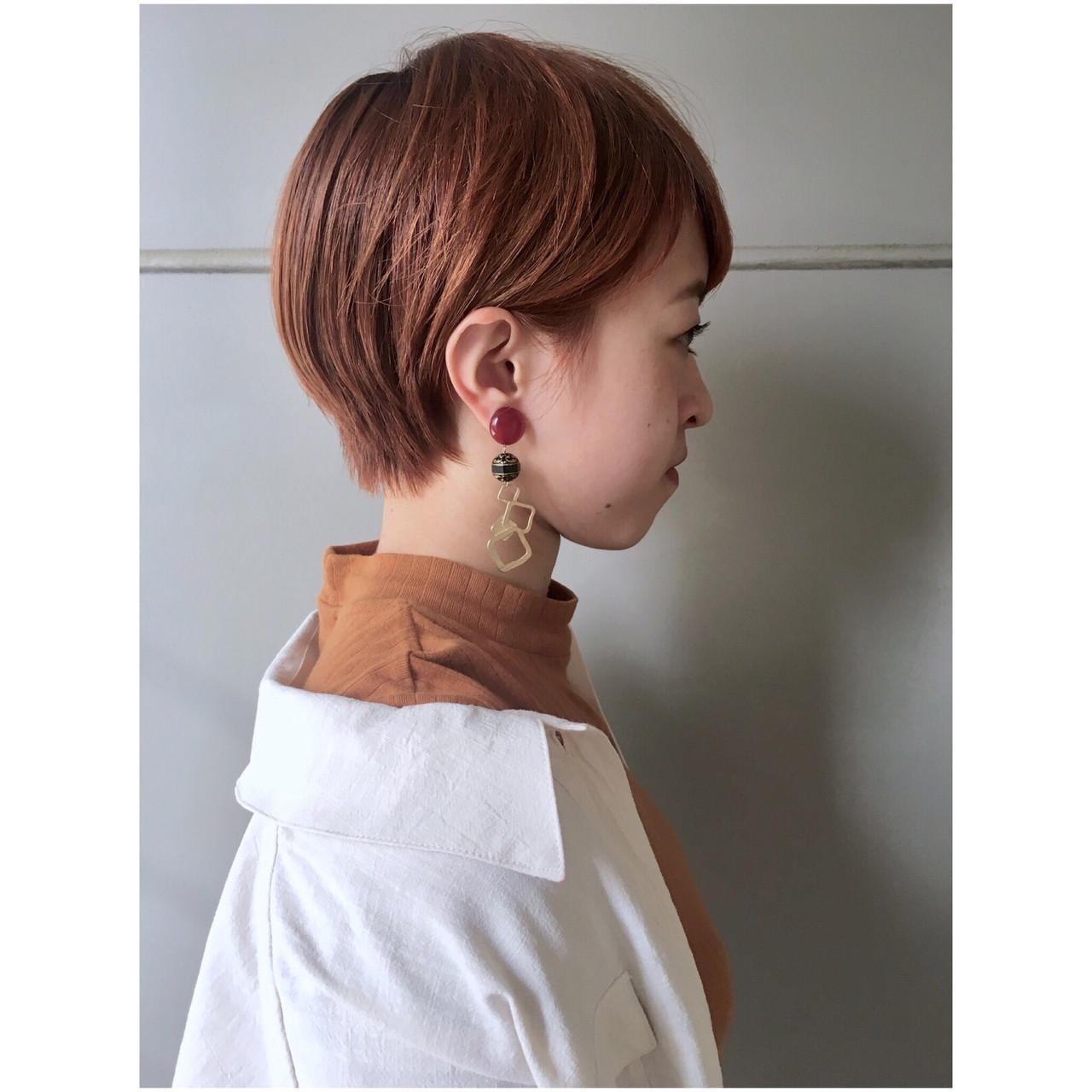 ナチュラル オレンジ オレンジベージュ ショートボブ ヘアスタイルや髪型の写真・画像 | Yumi Hiramatsu / Sourire Imaizumi【スーリール イマイズミ】
