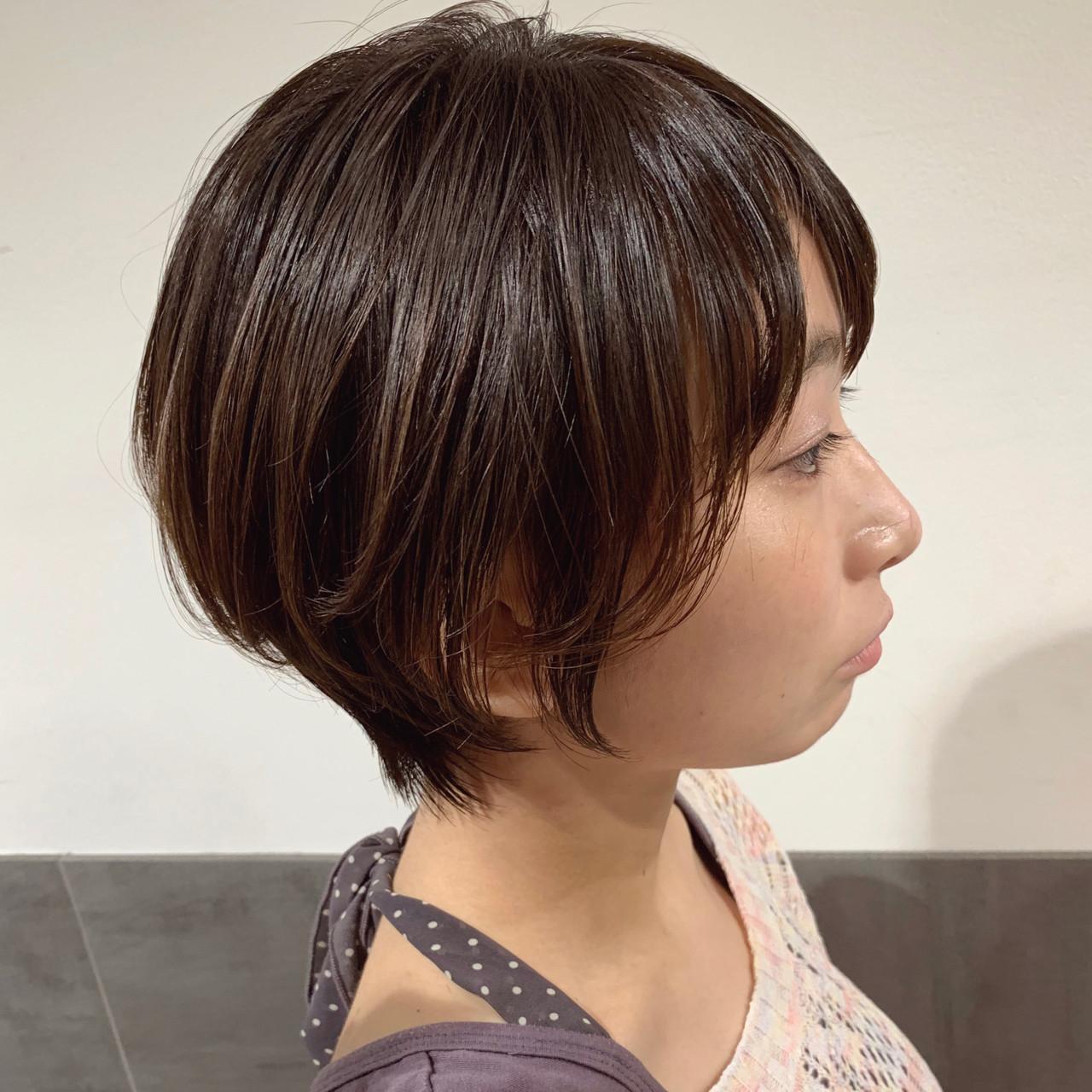 ショート ナチュラル ショートヘア ハンサムショート ヘアスタイルや髪型の写真・画像 | オカモト ナツキ/ショートヘア / Neolive susu