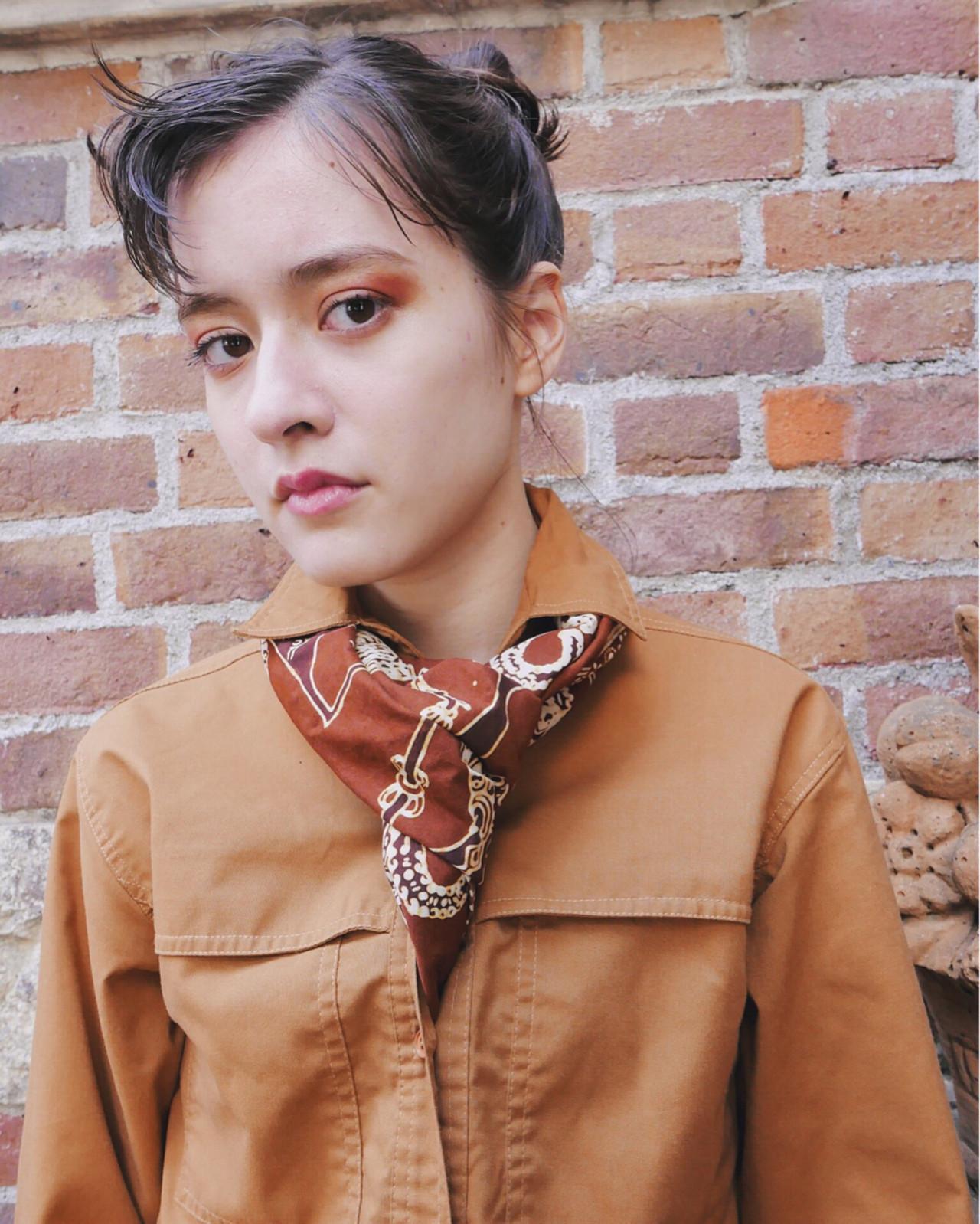 ショート 簡単ヘアアレンジ 外国人風 ストリート ヘアスタイルや髪型の写真・画像   yuji_yamaguchi / bloc