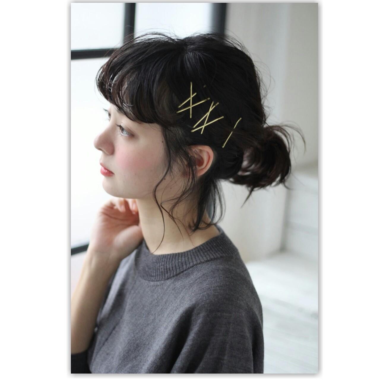 ヘアアレンジ ミディアム 簡単ヘアアレンジ ナチュラル ヘアスタイルや髪型の写真・画像 | MANAMI / free lance
